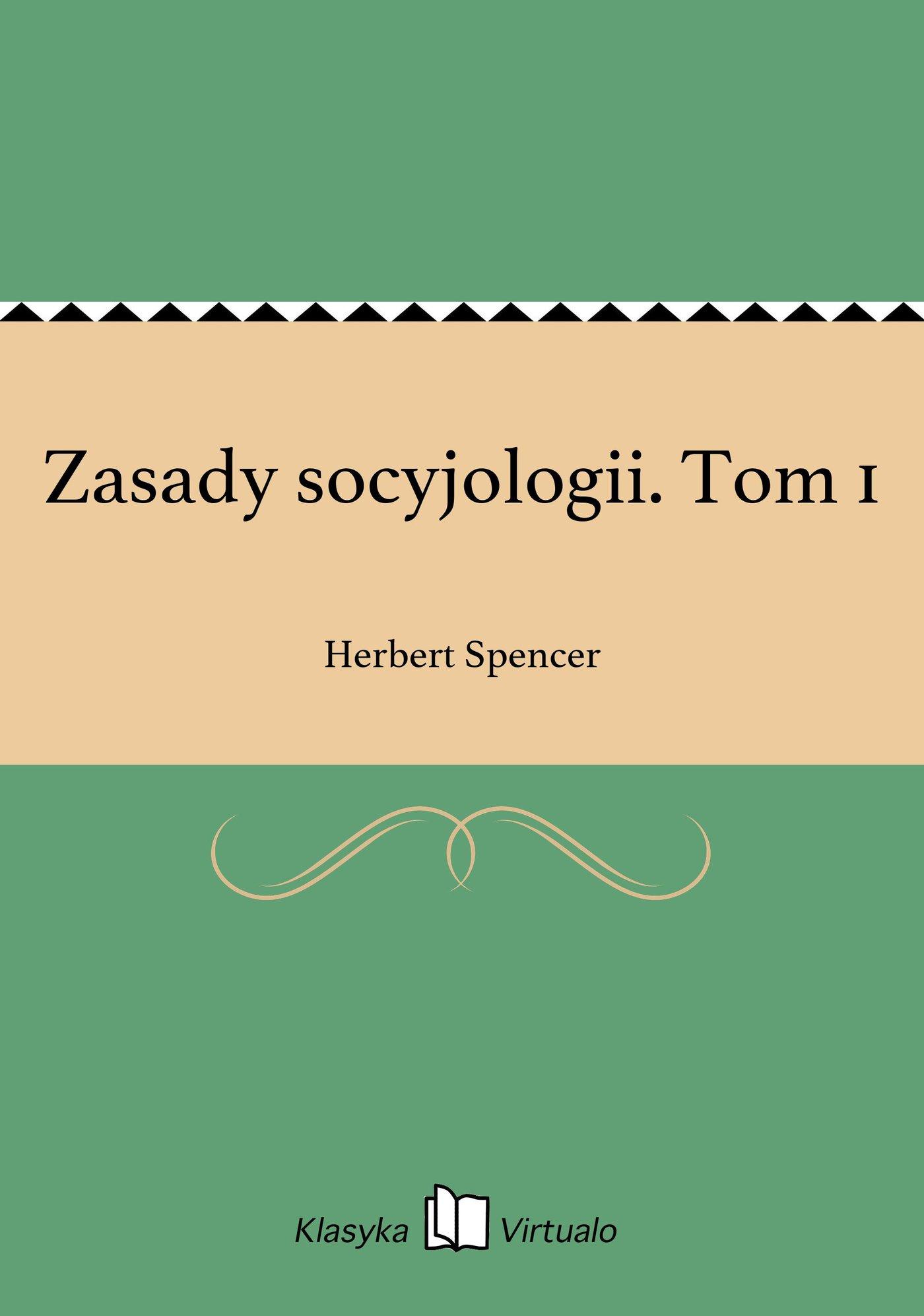 Zasady socyjologii. Tom 1 - Ebook (Książka EPUB) do pobrania w formacie EPUB