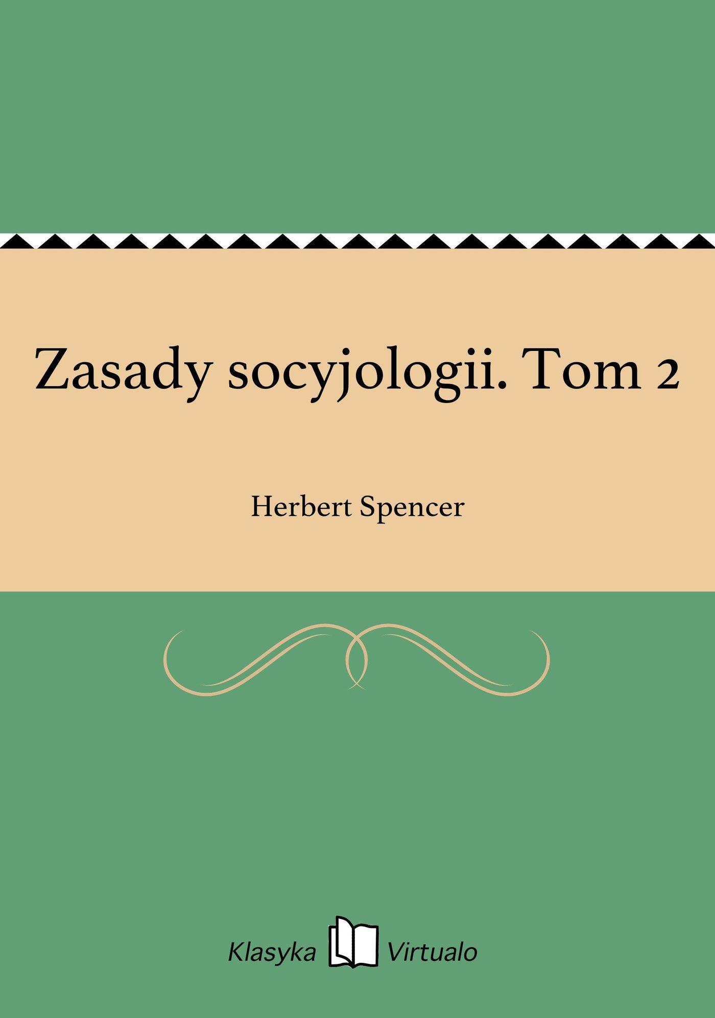 Zasady socyjologii. Tom 2 - Ebook (Książka EPUB) do pobrania w formacie EPUB