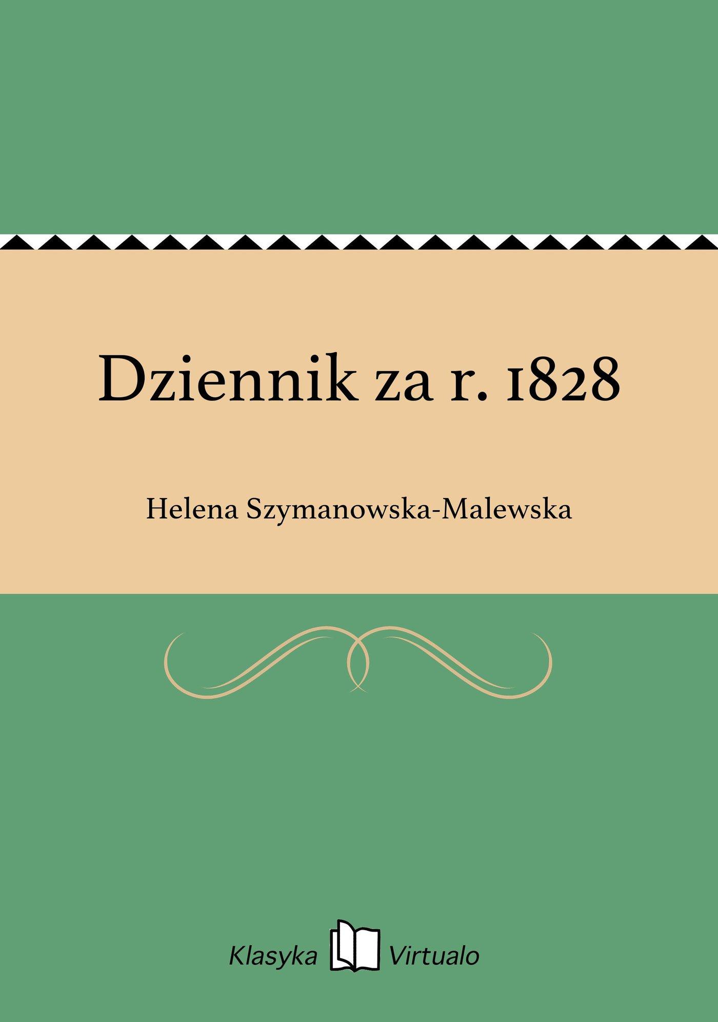 Dziennik za r. 1828 - Ebook (Książka EPUB) do pobrania w formacie EPUB