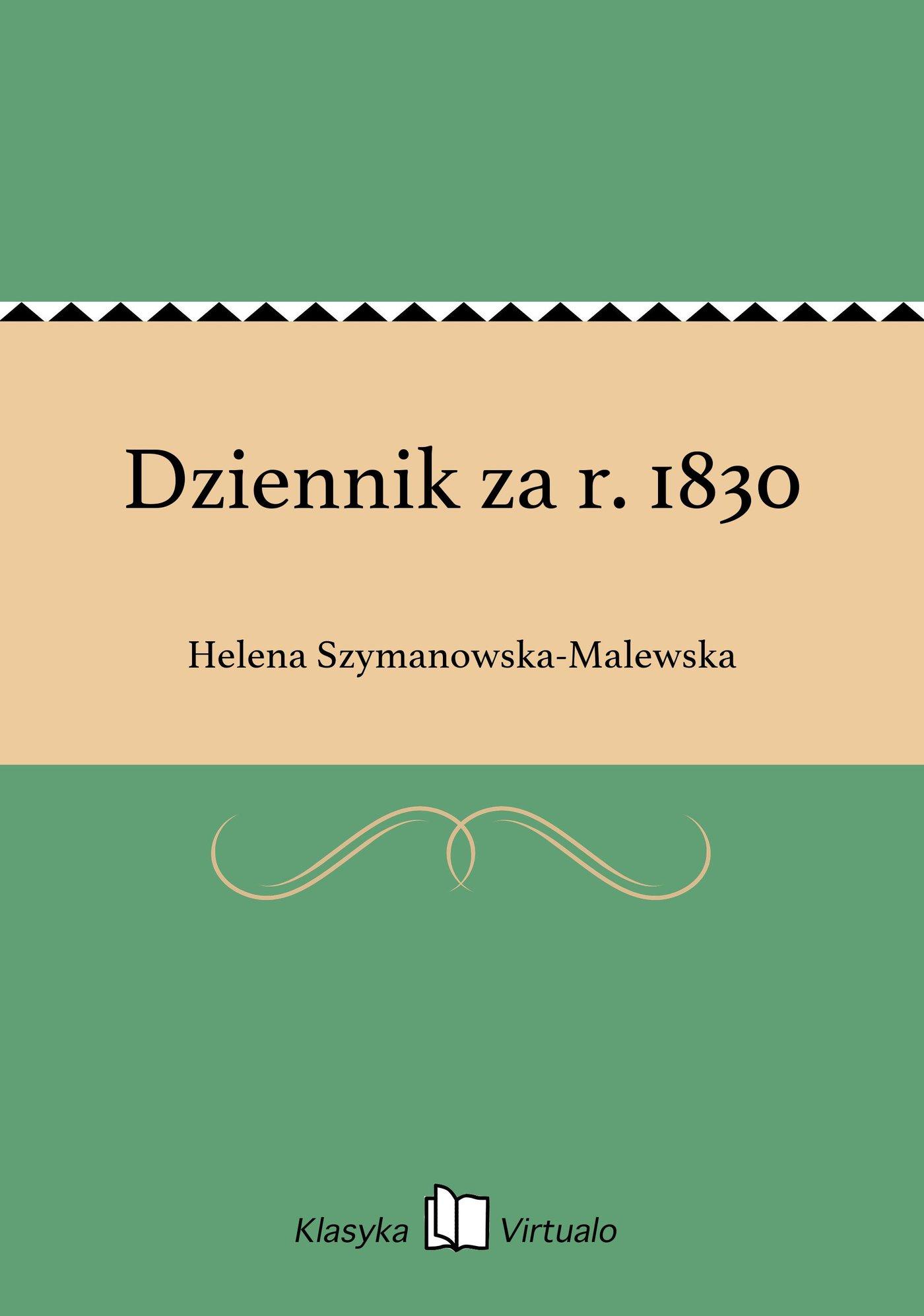Dziennik za r. 1830 - Ebook (Książka EPUB) do pobrania w formacie EPUB