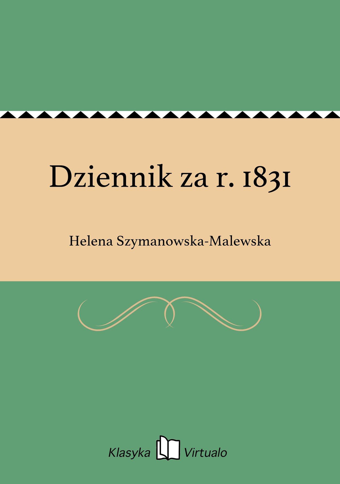 Dziennik za r. 1831 - Ebook (Książka EPUB) do pobrania w formacie EPUB