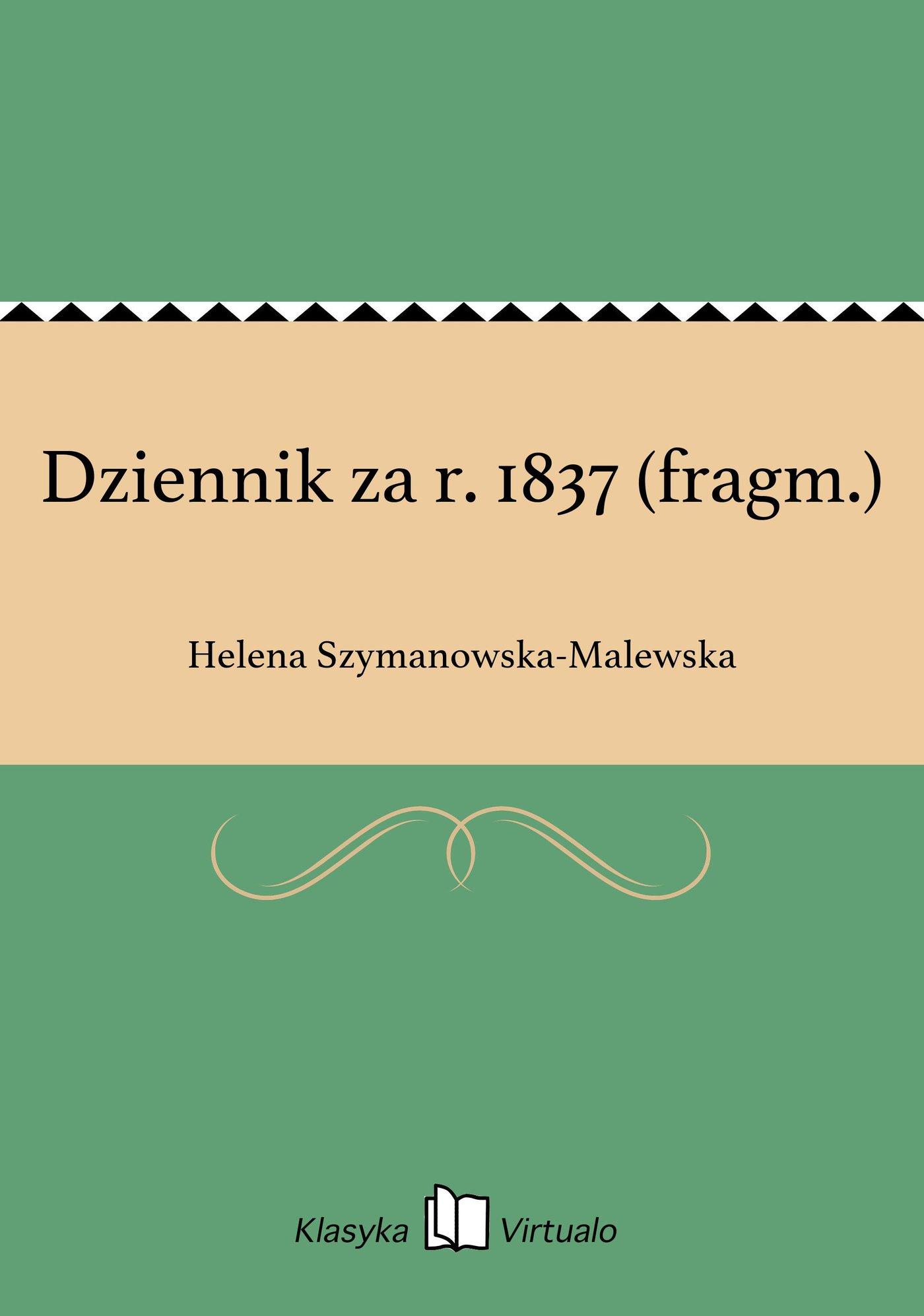 Dziennik za r. 1837 (fragm.) - Ebook (Książka EPUB) do pobrania w formacie EPUB