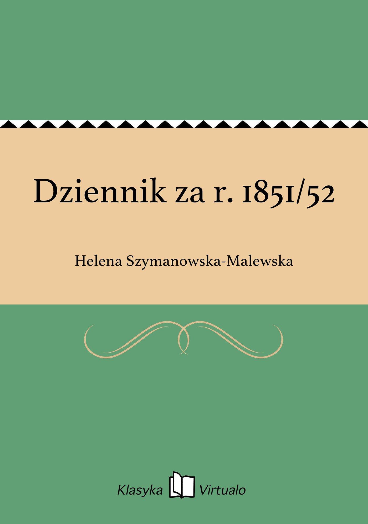 Dziennik za r. 1851/52 - Ebook (Książka EPUB) do pobrania w formacie EPUB