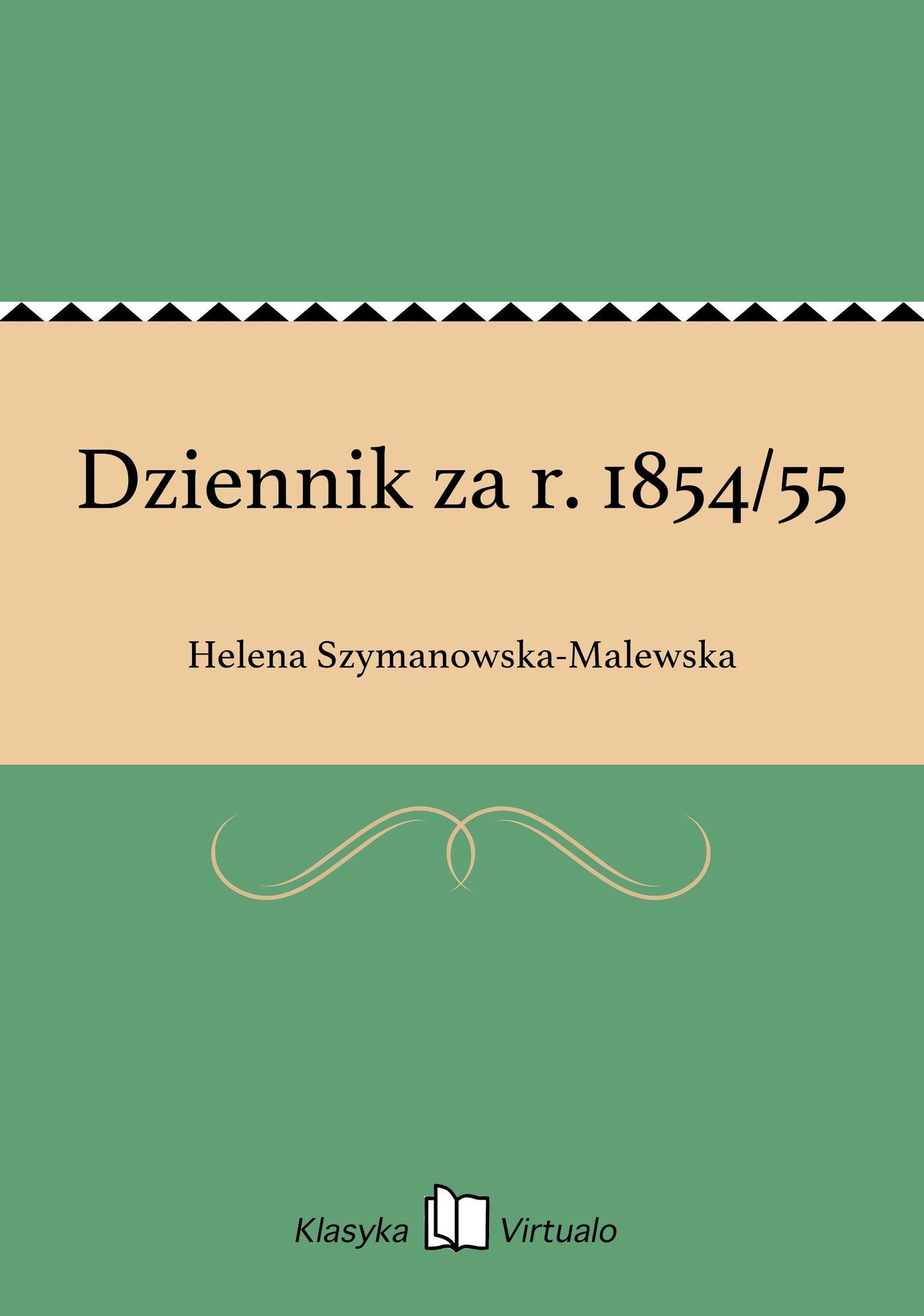 Dziennik za r. 1854/55 - Ebook (Książka EPUB) do pobrania w formacie EPUB