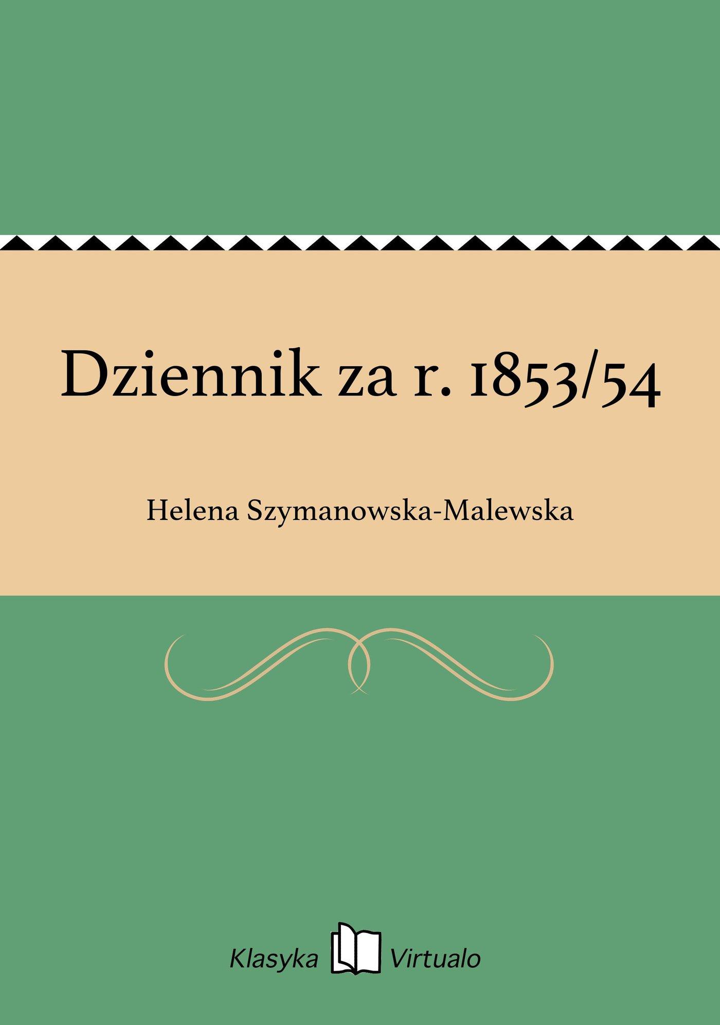 Dziennik za r. 1853/54 - Ebook (Książka EPUB) do pobrania w formacie EPUB