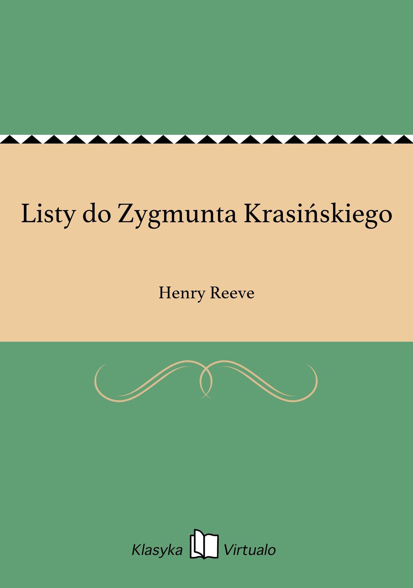 Listy do Zygmunta Krasińskiego - Ebook (Książka EPUB) do pobrania w formacie EPUB