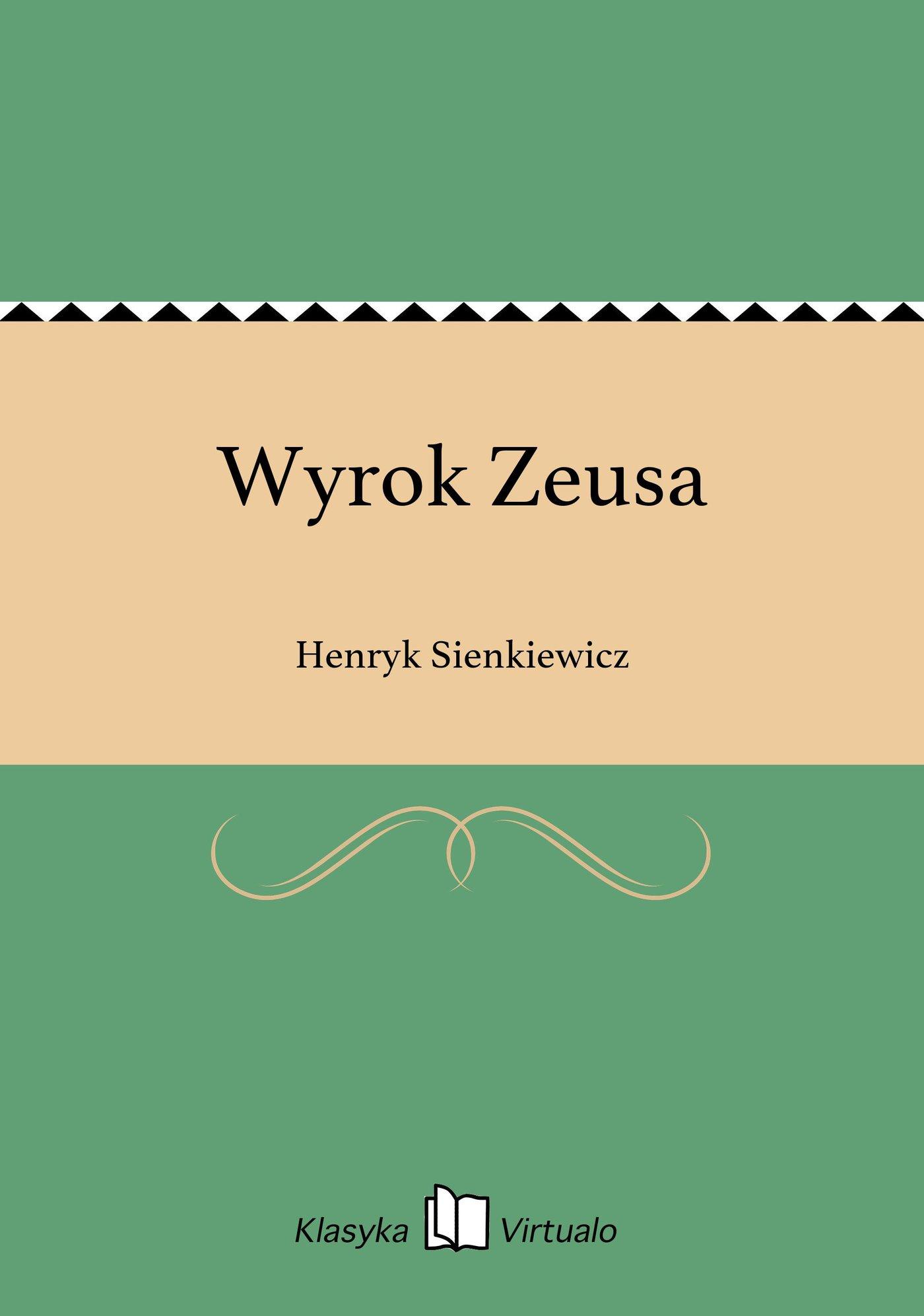 Wyrok Zeusa - Ebook (Książka EPUB) do pobrania w formacie EPUB