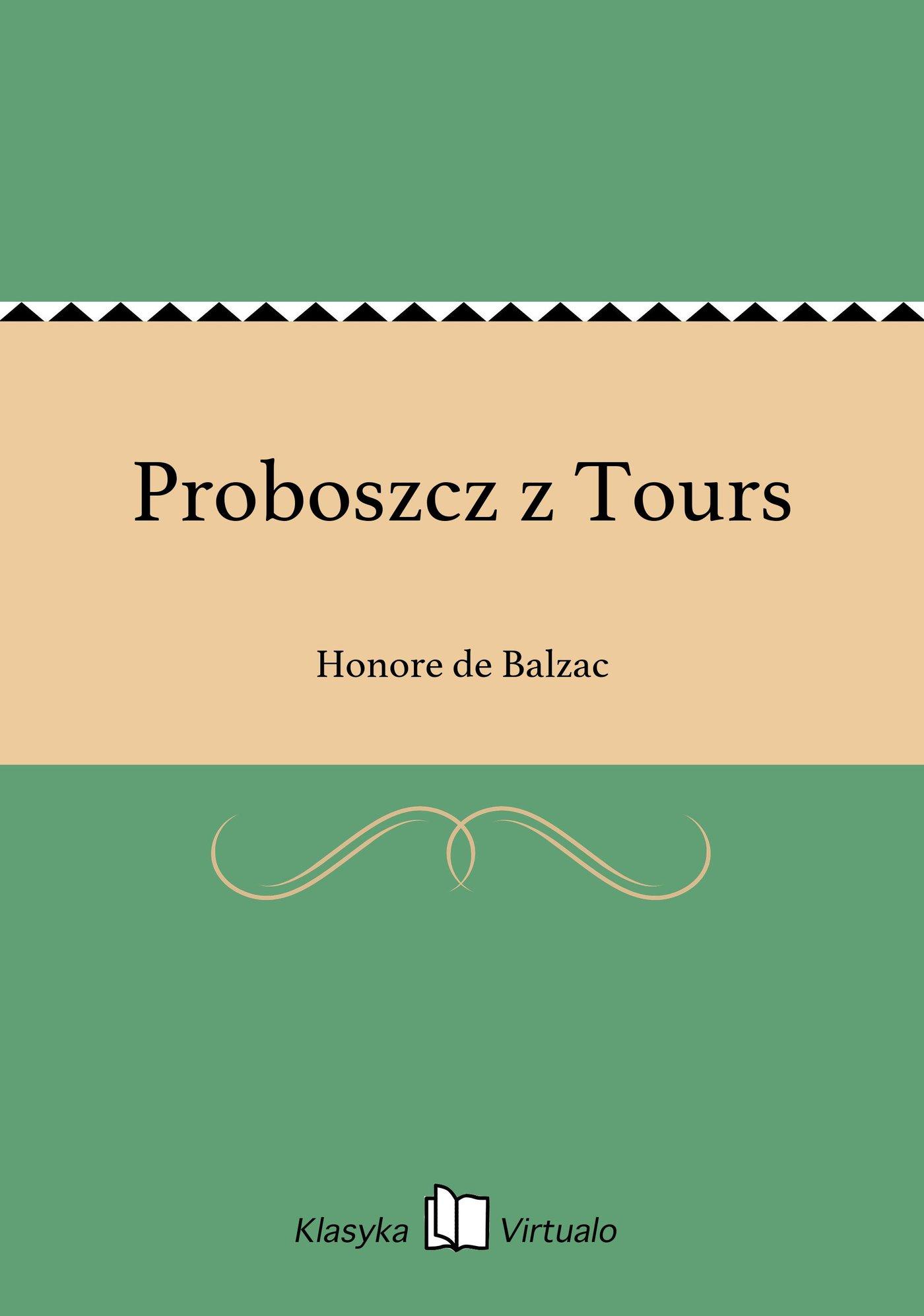 Proboszcz z Tours - Ebook (Książka EPUB) do pobrania w formacie EPUB