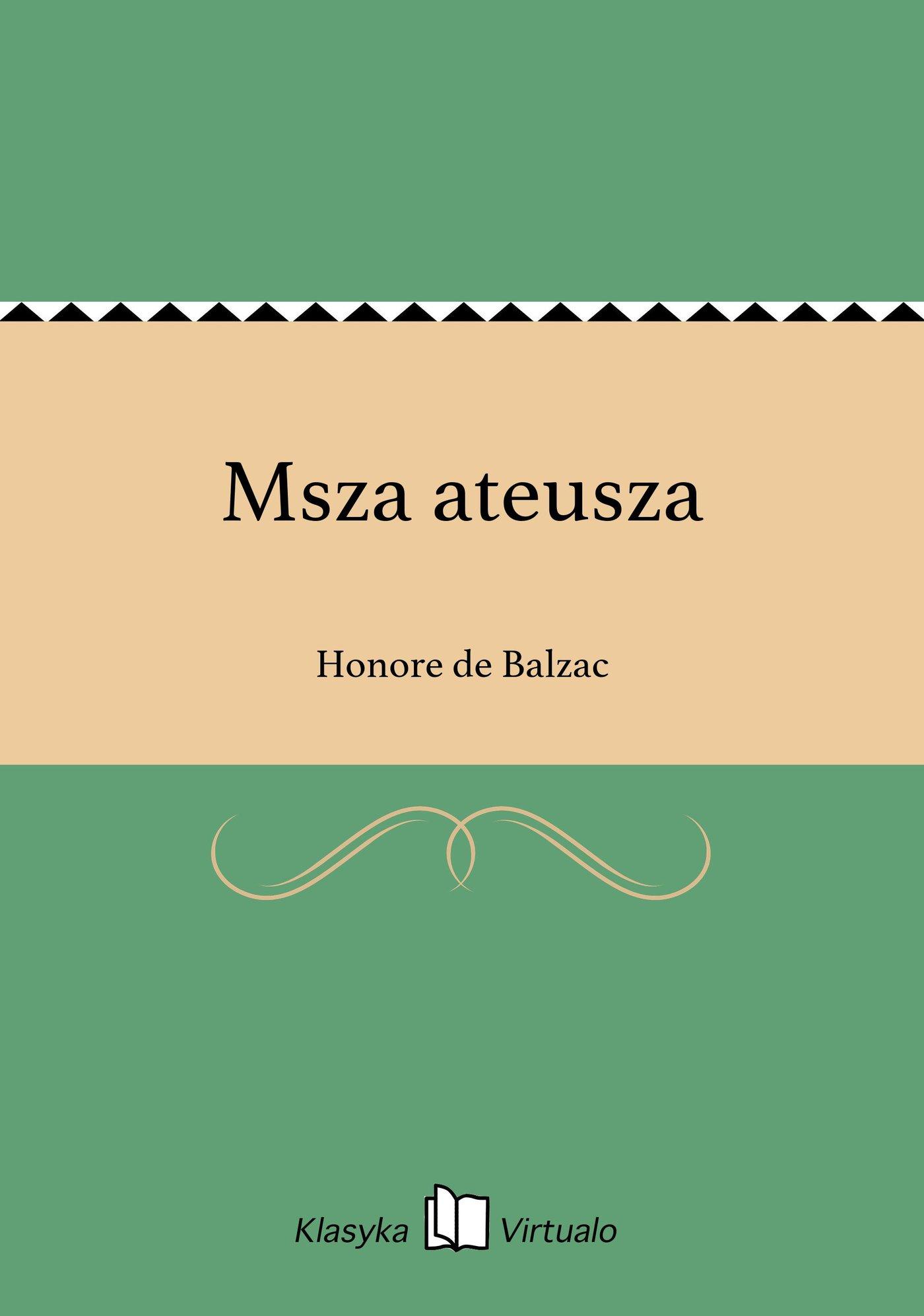 Msza ateusza - Ebook (Książka EPUB) do pobrania w formacie EPUB