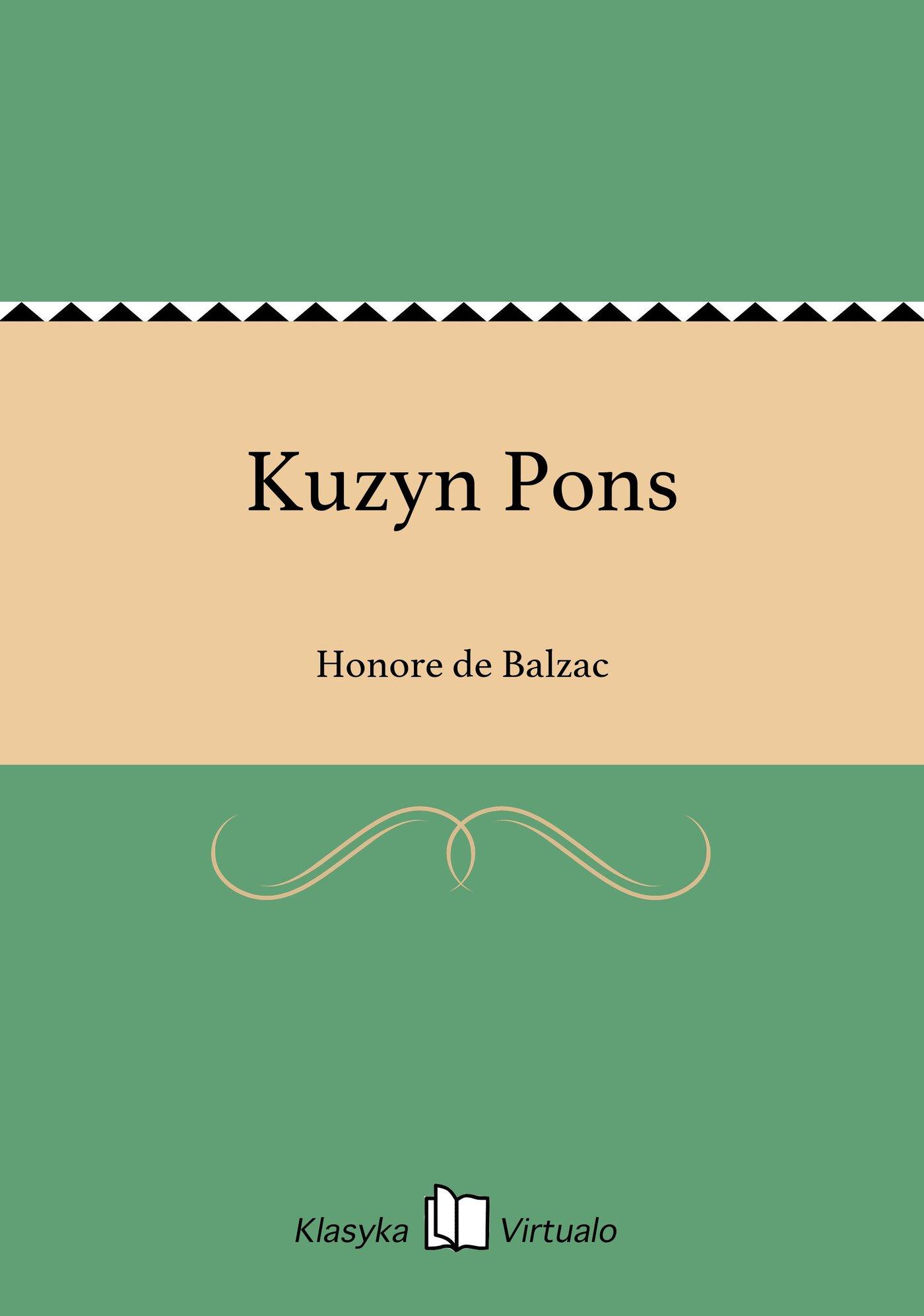 Kuzyn Pons - Ebook (Książka EPUB) do pobrania w formacie EPUB