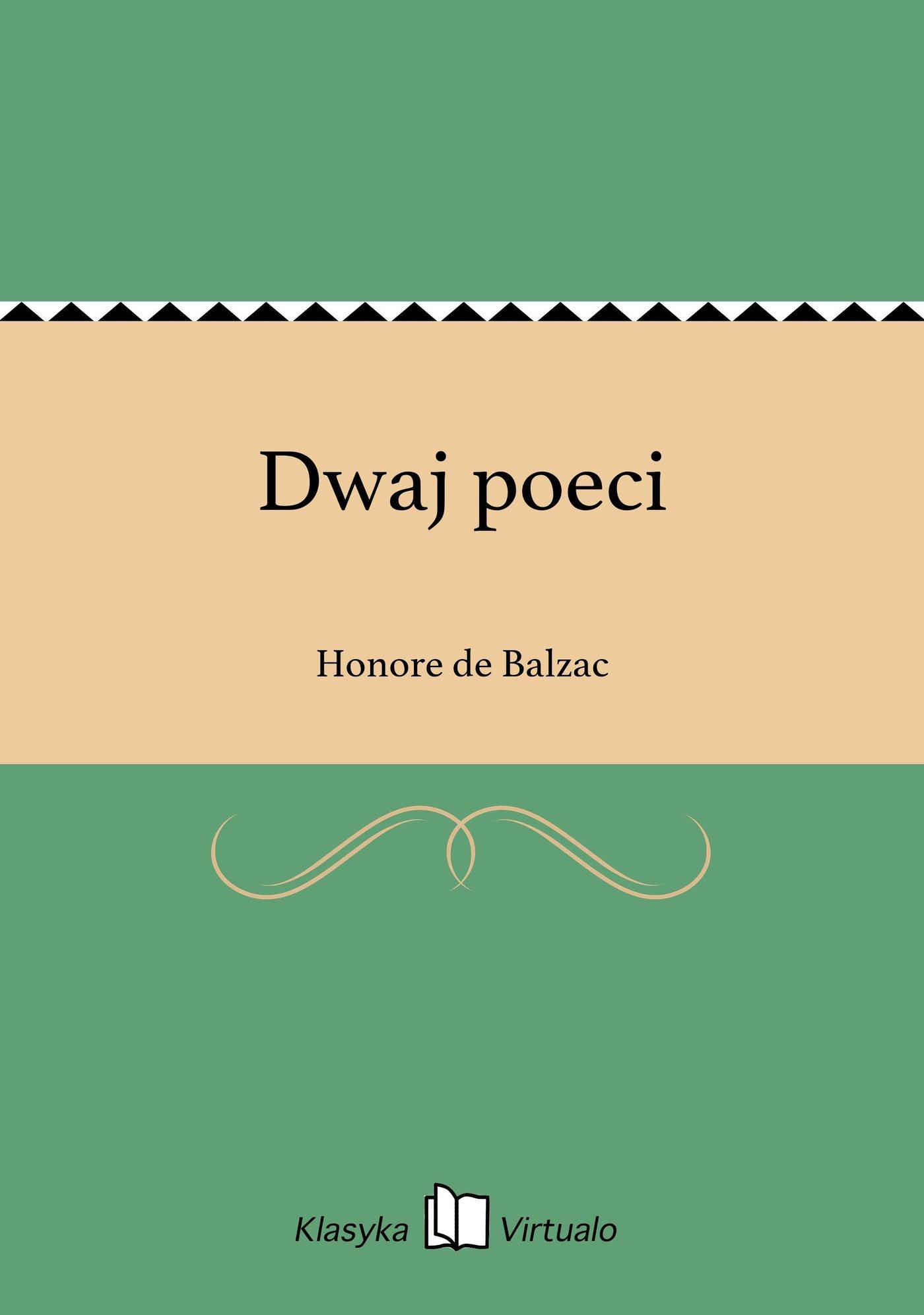 Dwaj poeci - Ebook (Książka EPUB) do pobrania w formacie EPUB