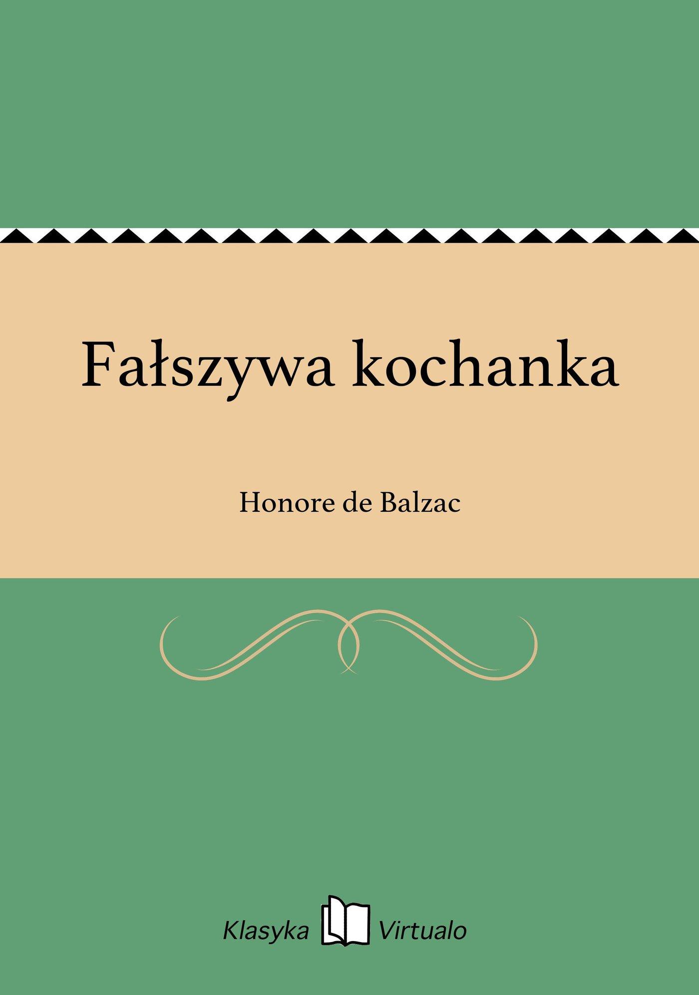 Fałszywa kochanka - Ebook (Książka EPUB) do pobrania w formacie EPUB