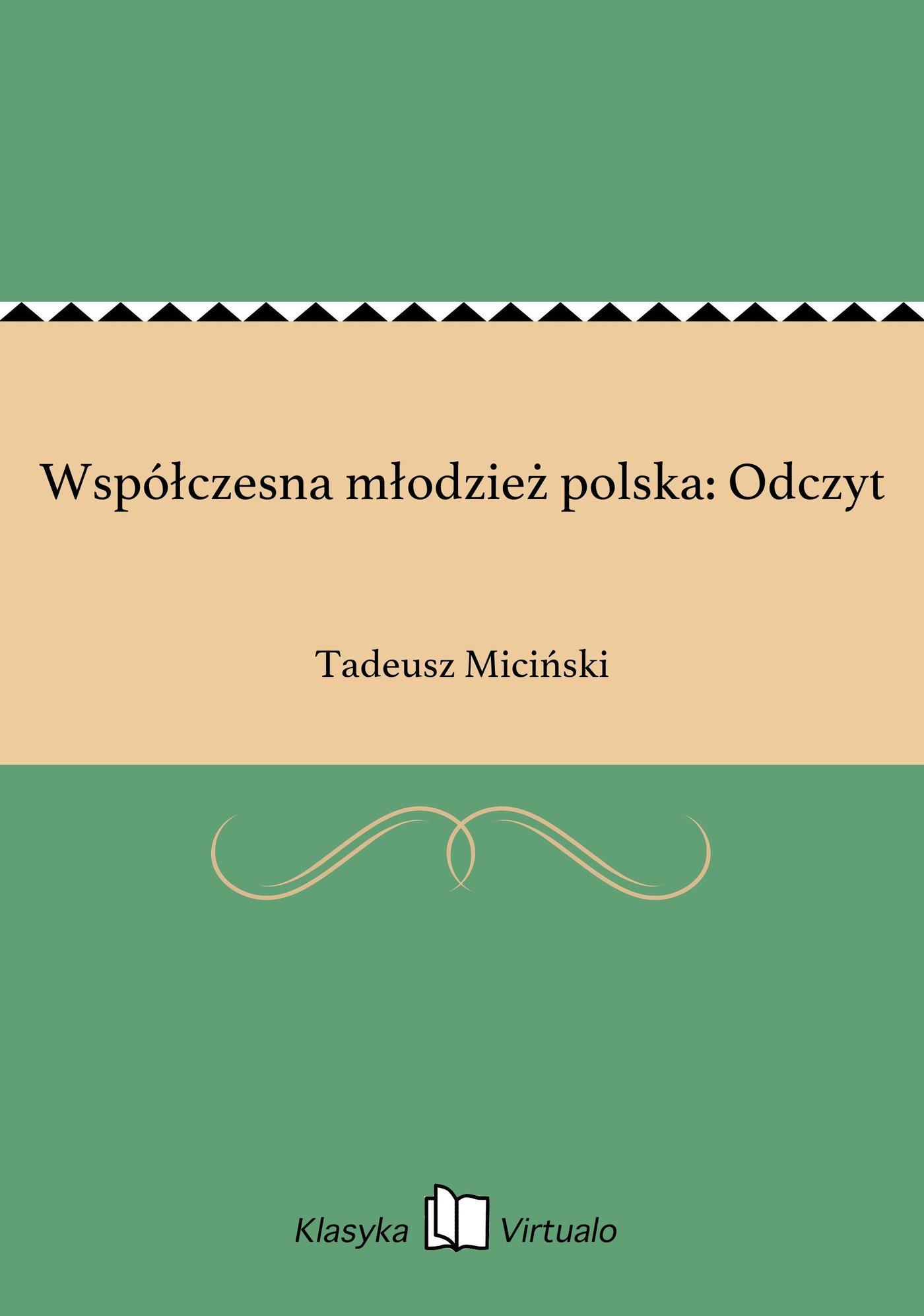 Współczesna młodzież polska: Odczyt - Ebook (Książka EPUB) do pobrania w formacie EPUB