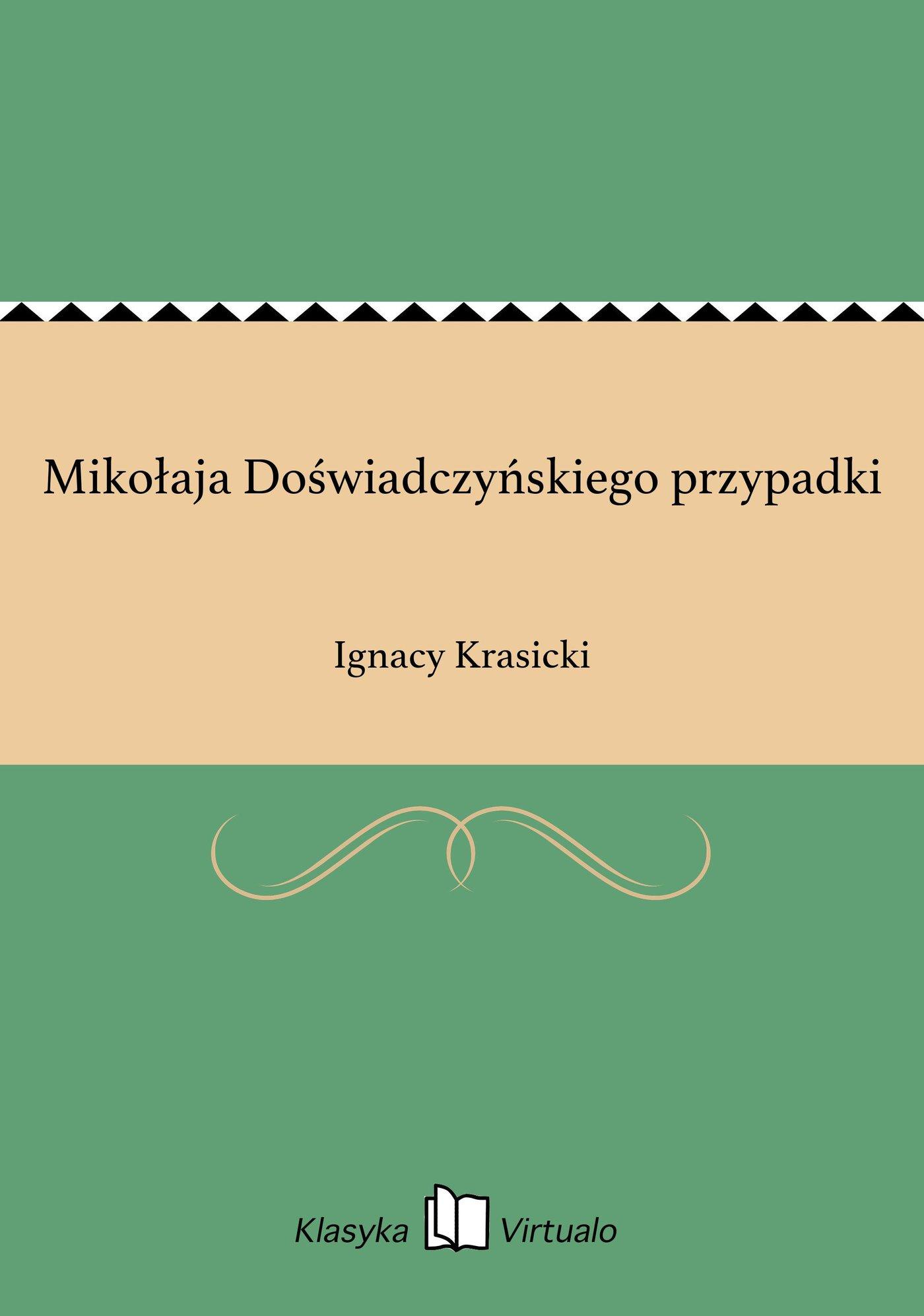Mikołaja Doświadczyńskiego przypadki - Ebook (Książka EPUB) do pobrania w formacie EPUB