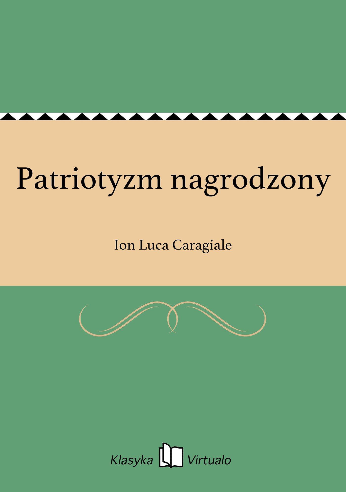 Patriotyzm nagrodzony - Ebook (Książka EPUB) do pobrania w formacie EPUB