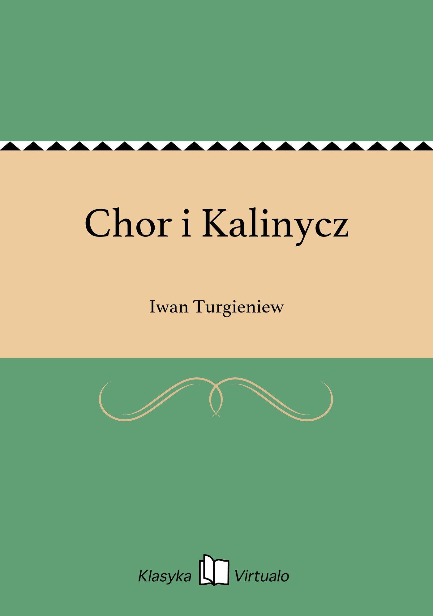 Chor i Kalinycz - Ebook (Książka EPUB) do pobrania w formacie EPUB