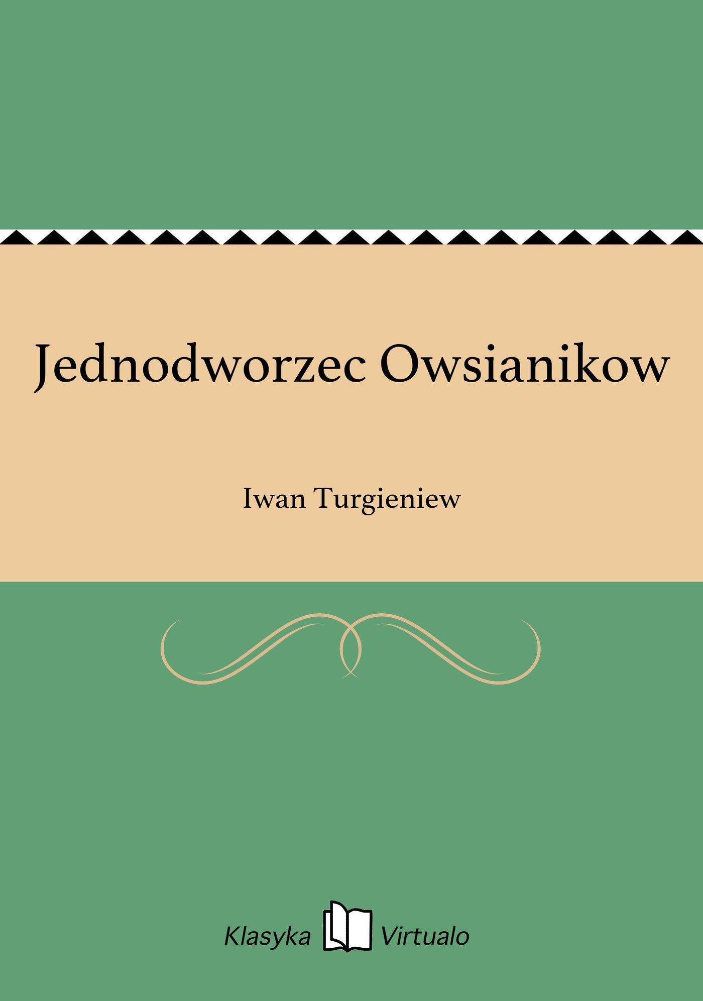 Jednodworzec Owsianikow - Ebook (Książka EPUB) do pobrania w formacie EPUB