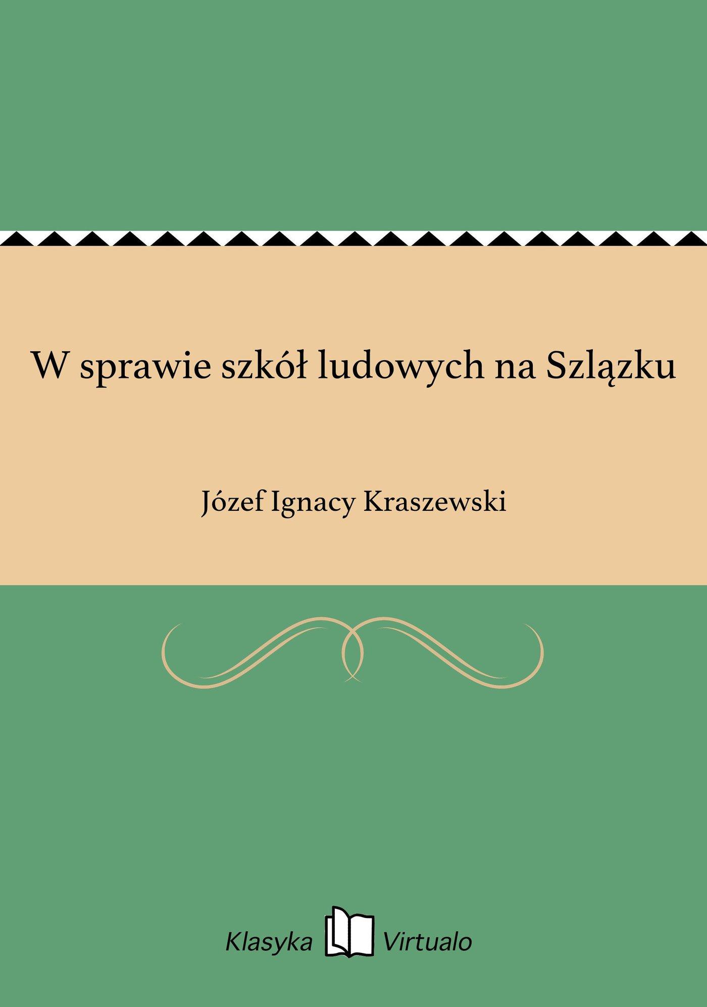 W sprawie szkół ludowych na Szlązku - Ebook (Książka EPUB) do pobrania w formacie EPUB
