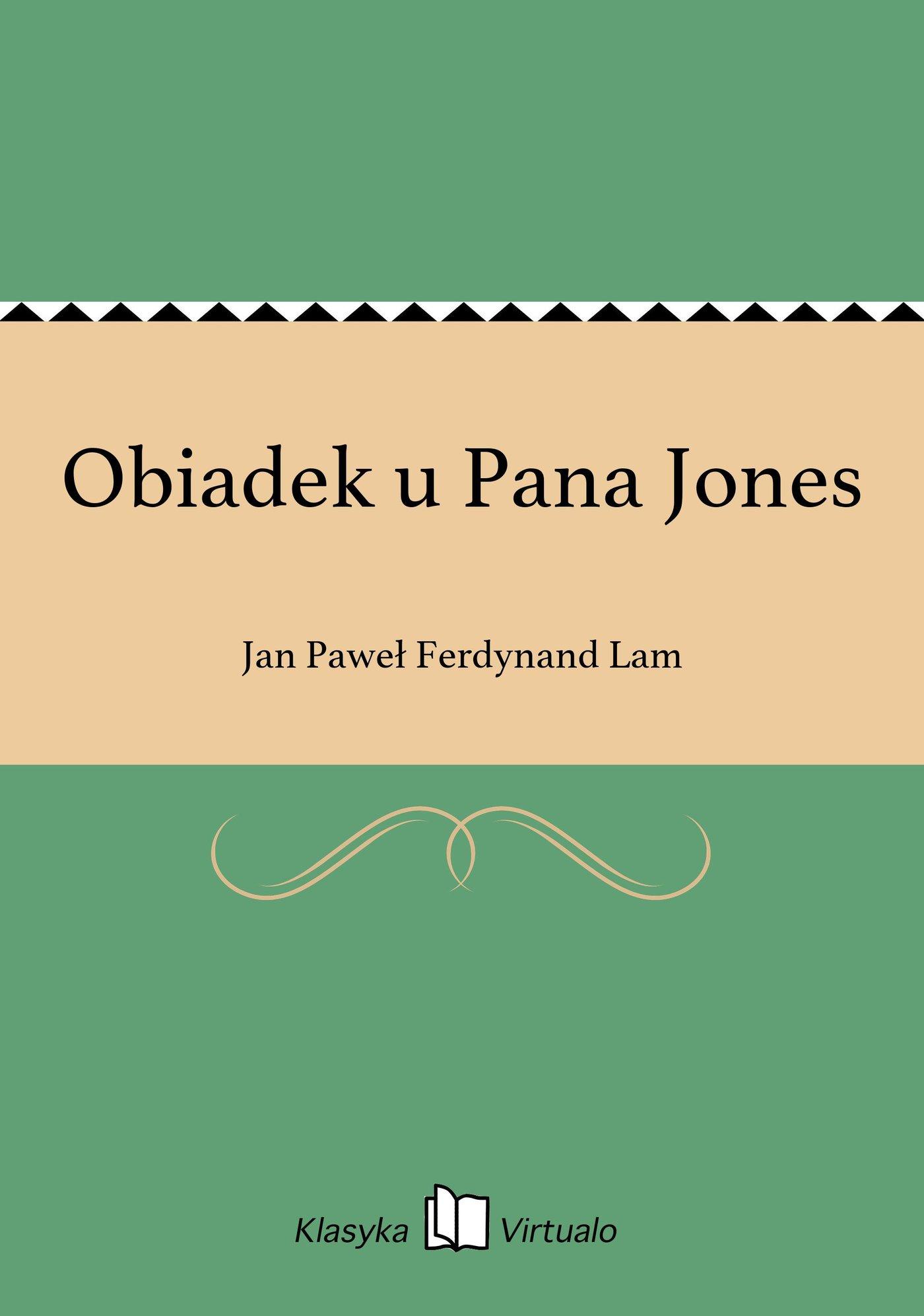 Obiadek u Pana Jones - Ebook (Książka EPUB) do pobrania w formacie EPUB
