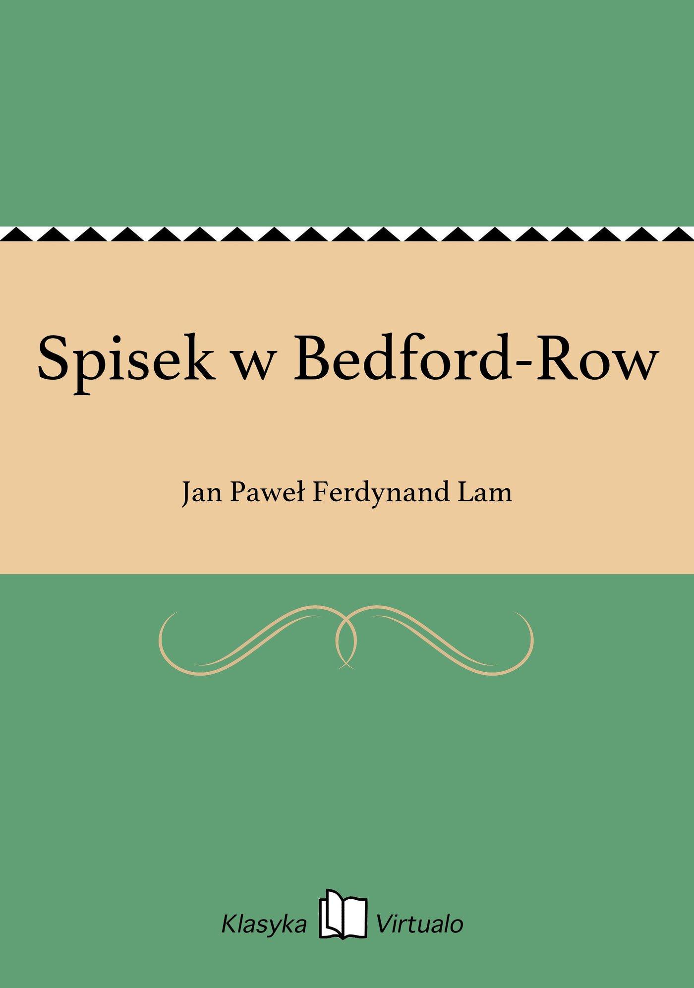 Spisek w Bedford-Row - Ebook (Książka EPUB) do pobrania w formacie EPUB