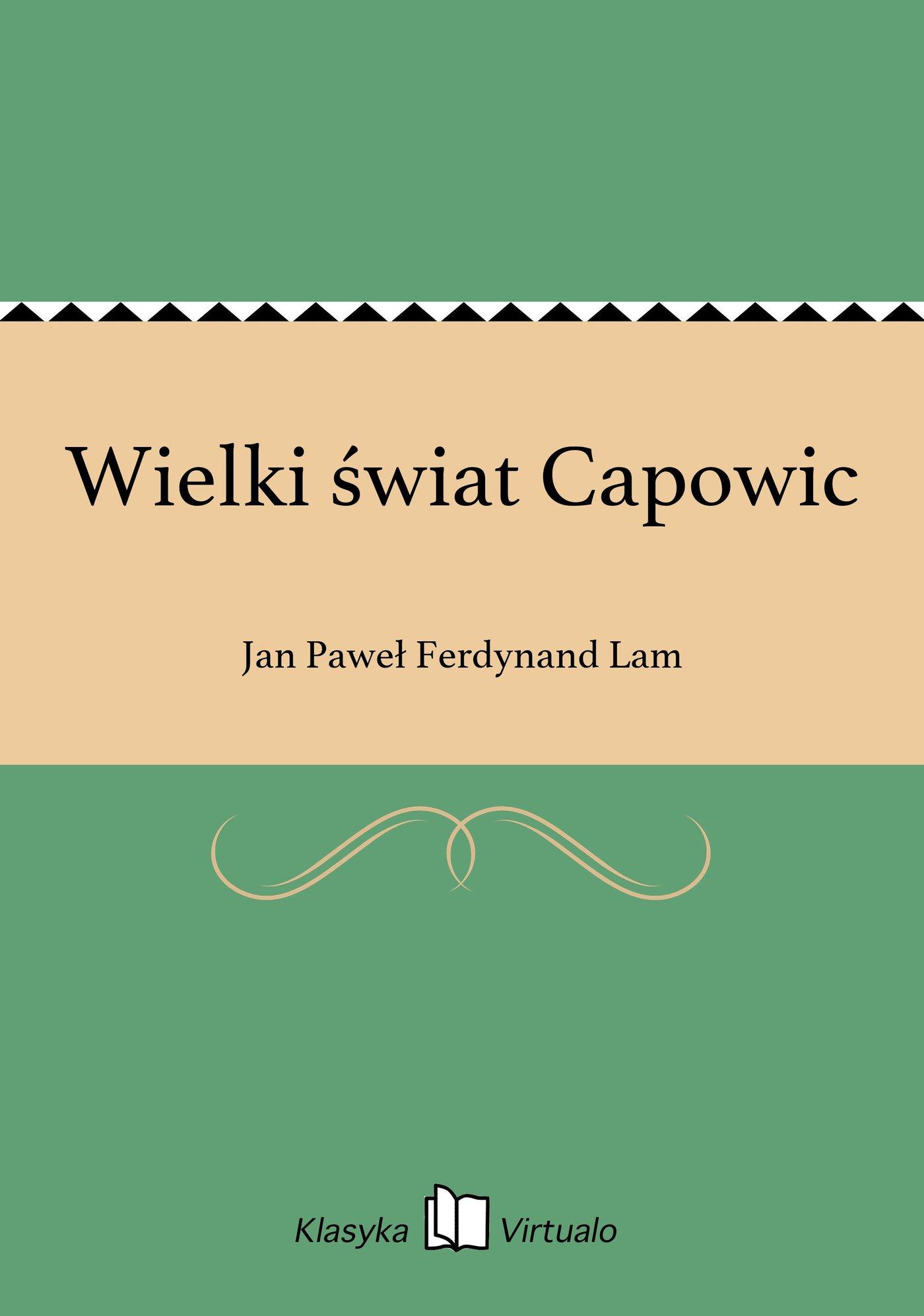 Wielki świat Capowic - Ebook (Książka EPUB) do pobrania w formacie EPUB