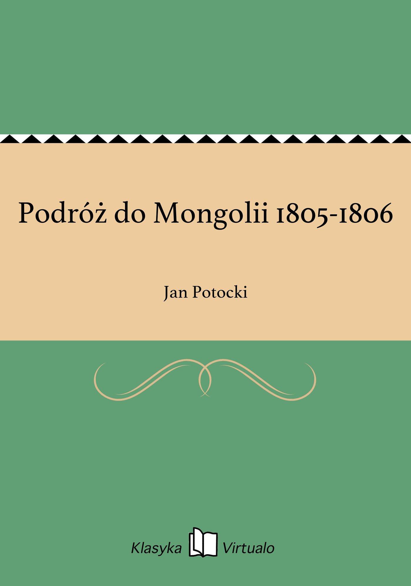 Podróż do Mongolii 1805-1806 - Ebook (Książka EPUB) do pobrania w formacie EPUB
