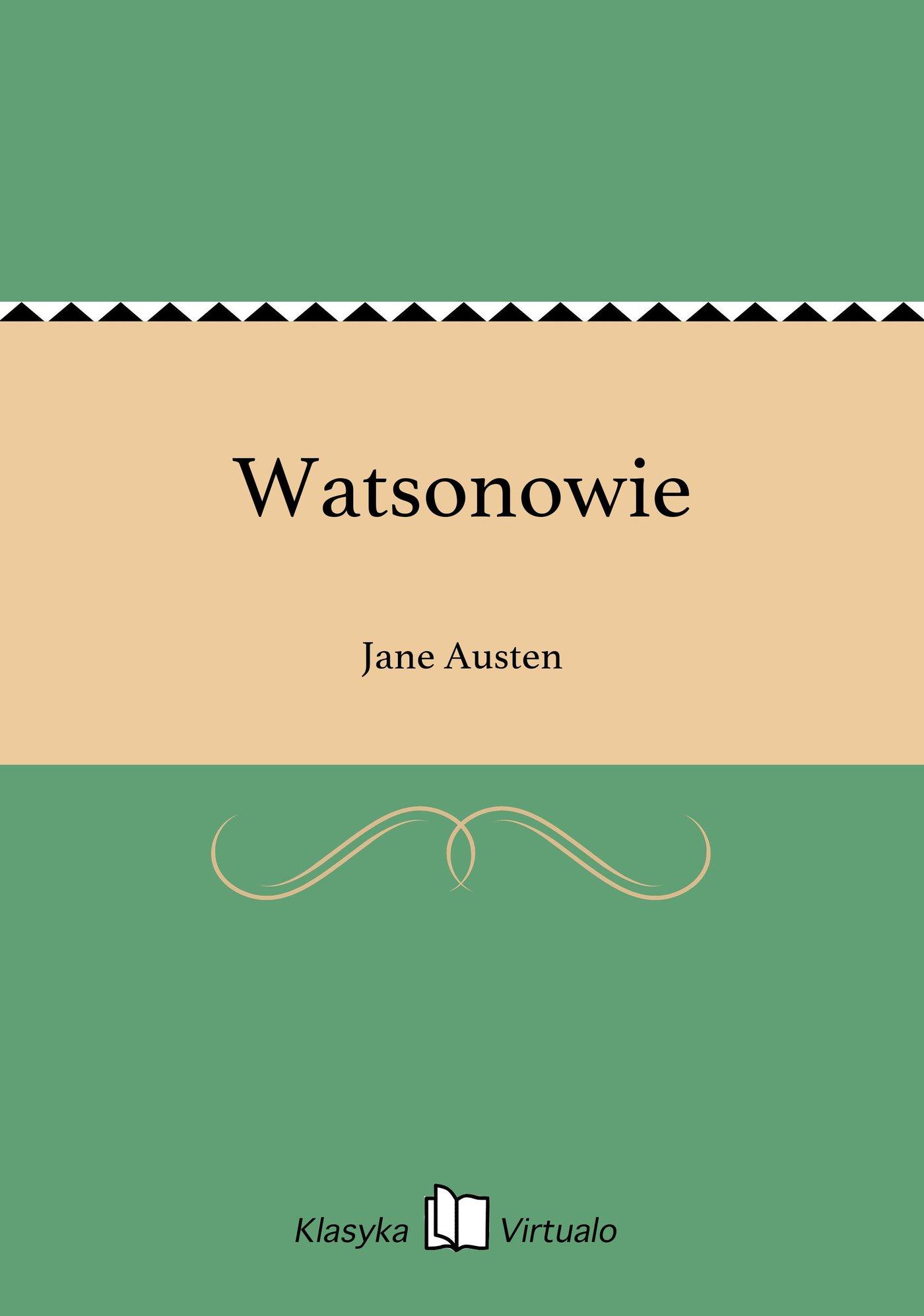 Watsonowie - Ebook (Książka EPUB) do pobrania w formacie EPUB