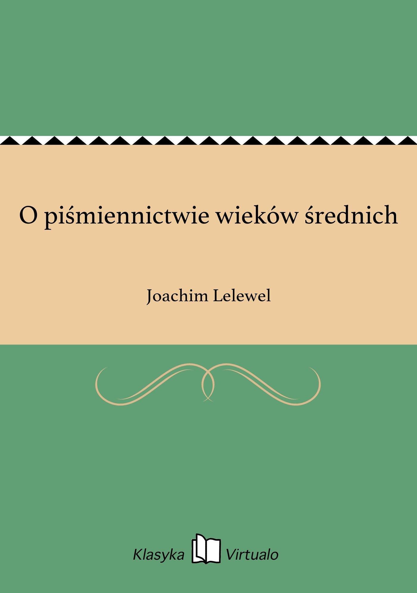 O piśmiennictwie wieków średnich - Ebook (Książka EPUB) do pobrania w formacie EPUB