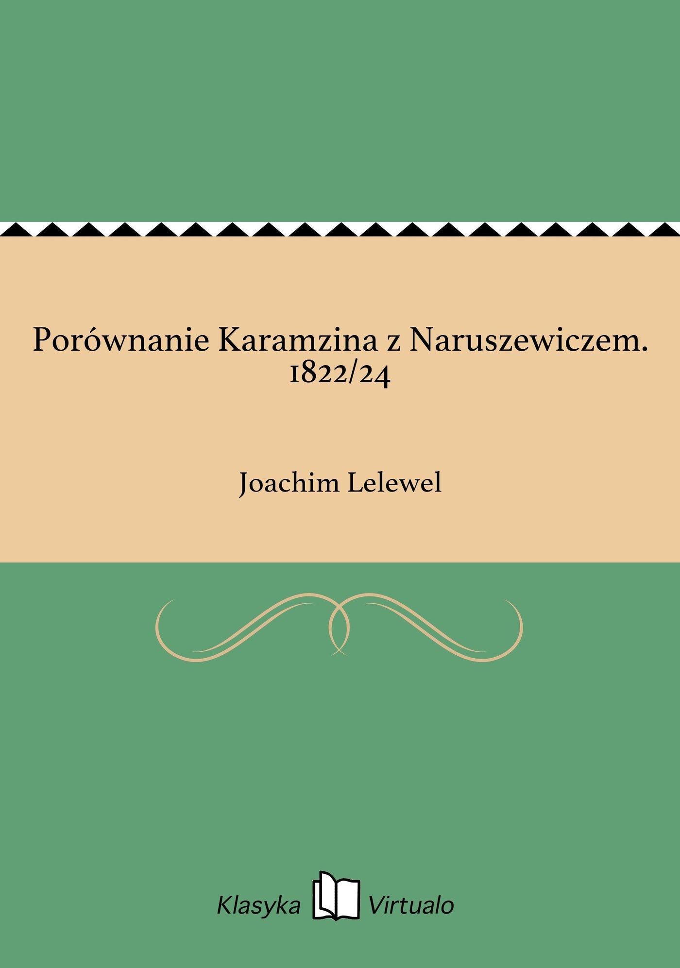 Porównanie Karamzina z Naruszewiczem. 1822/24 - Ebook (Książka EPUB) do pobrania w formacie EPUB