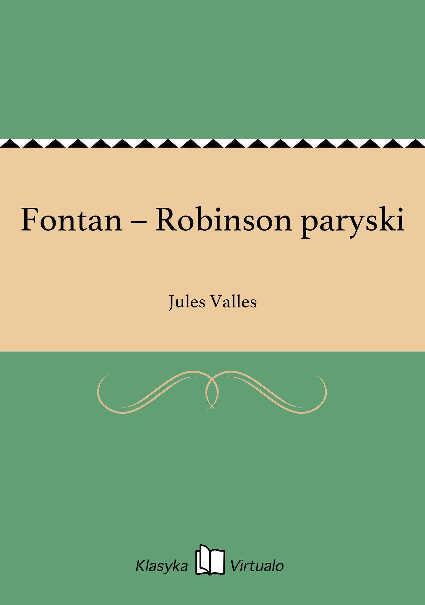 Fontan – Robinson paryski - Ebook (Książka EPUB) do pobrania w formacie EPUB
