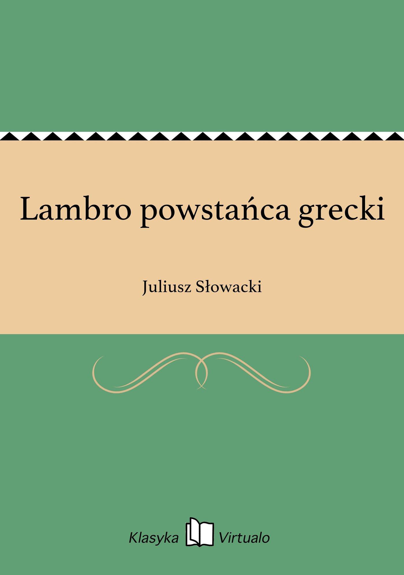 Lambro powstańca grecki - Ebook (Książka EPUB) do pobrania w formacie EPUB