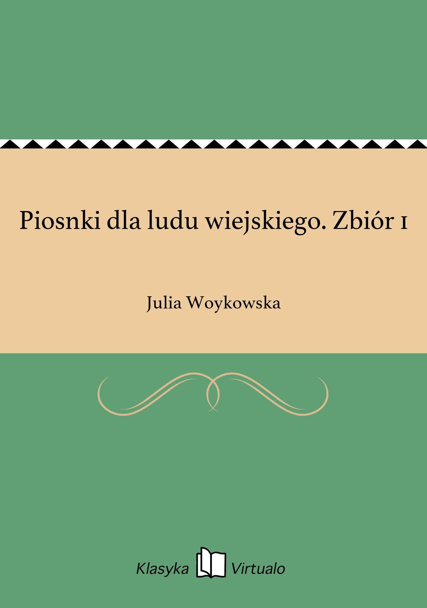 Piosnki dla ludu wiejskiego. Zbiór 1 - Ebook (Książka EPUB) do pobrania w formacie EPUB