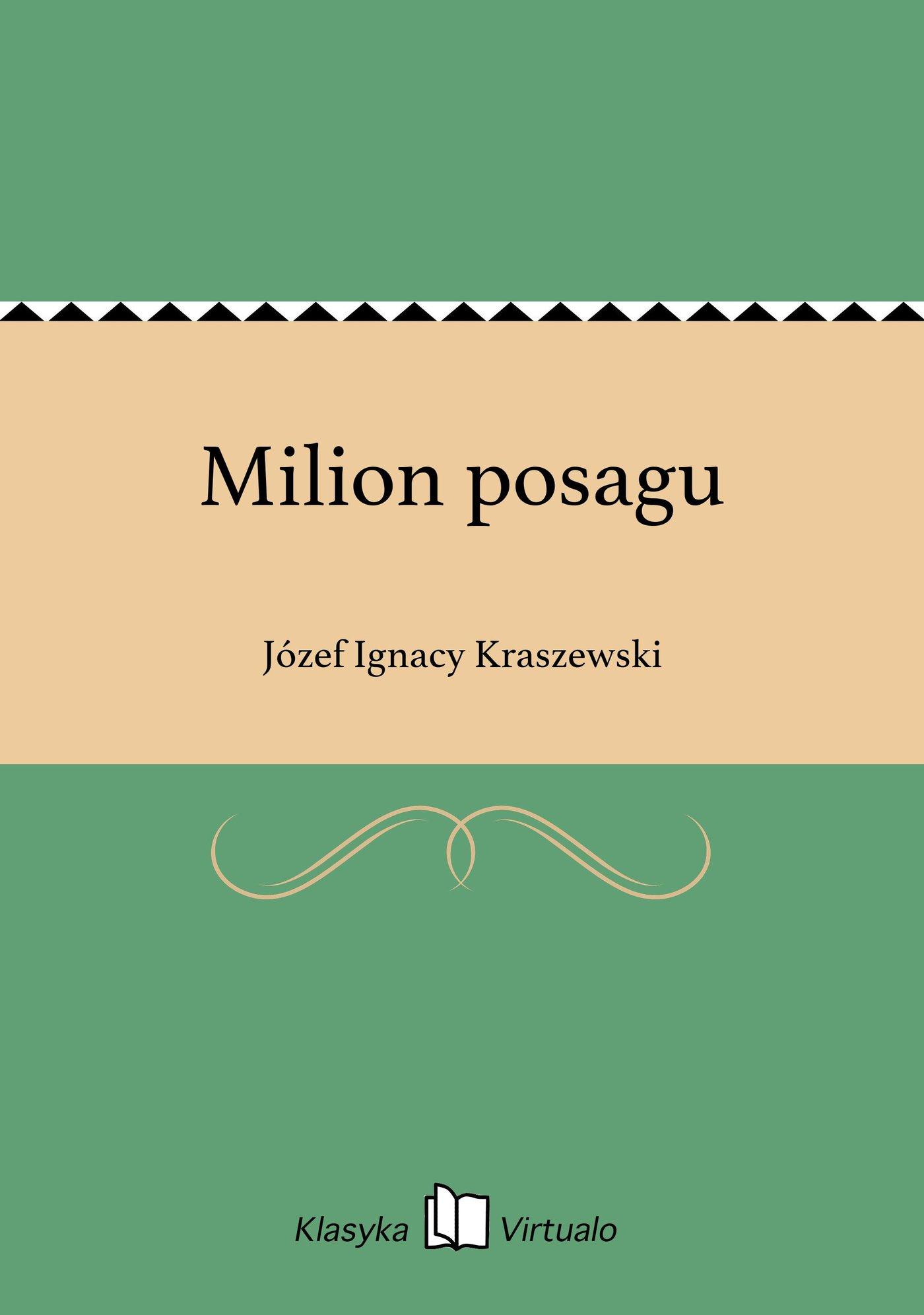 Milion posagu - Ebook (Książka EPUB) do pobrania w formacie EPUB