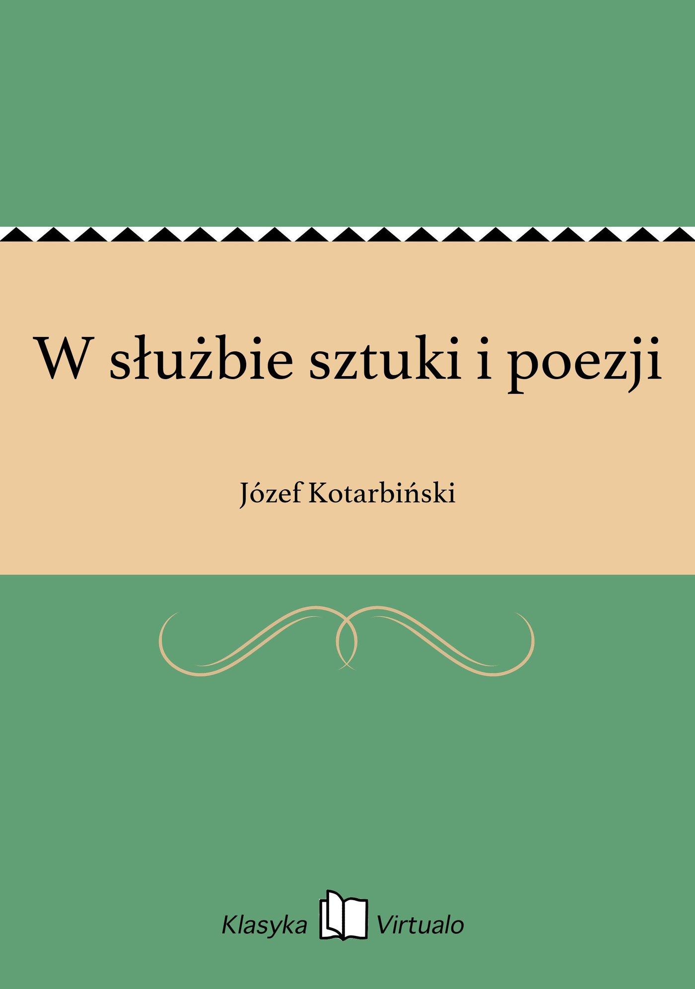 W służbie sztuki i poezji - Ebook (Książka EPUB) do pobrania w formacie EPUB