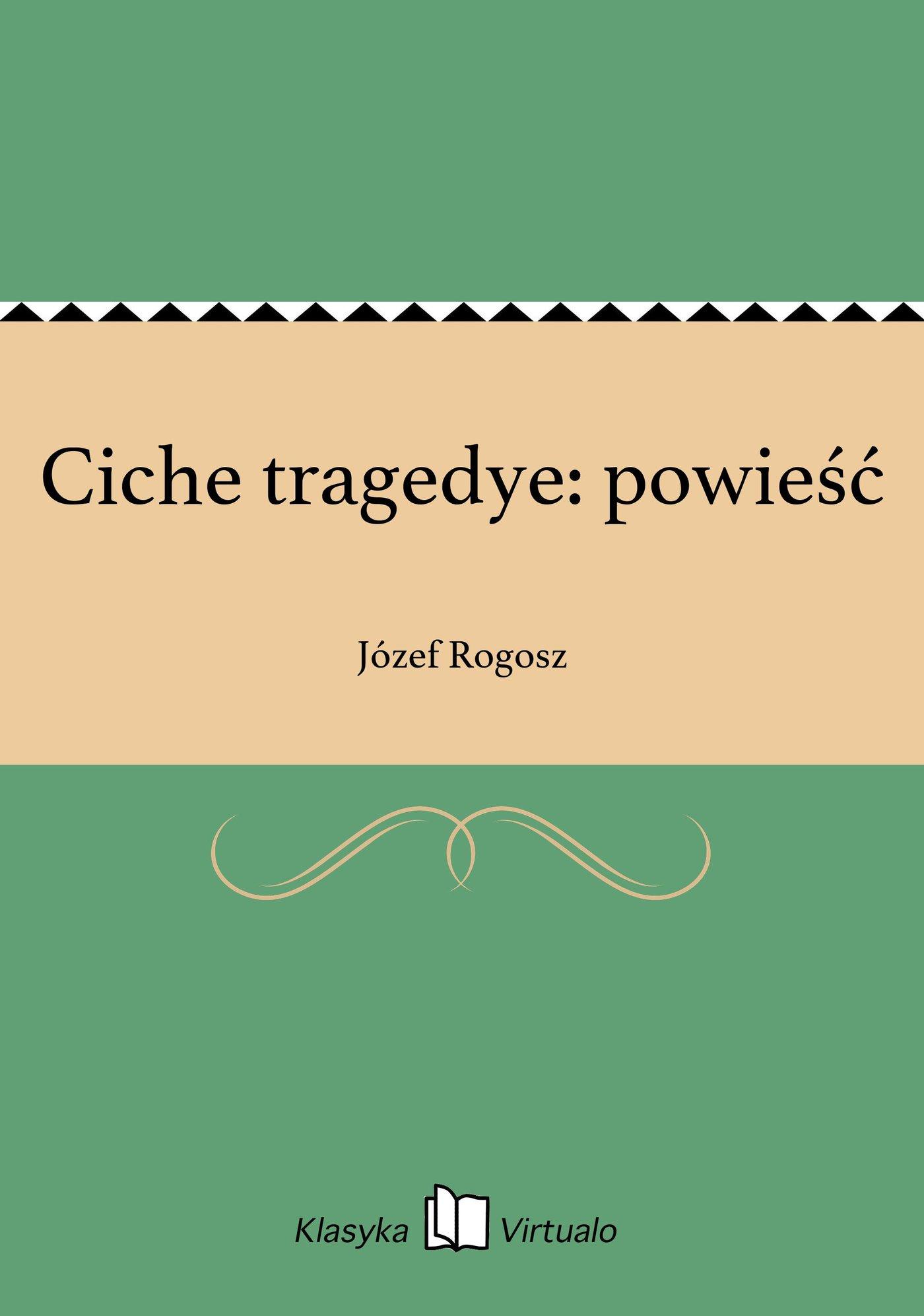 Ciche tragedye: powieść - Ebook (Książka EPUB) do pobrania w formacie EPUB