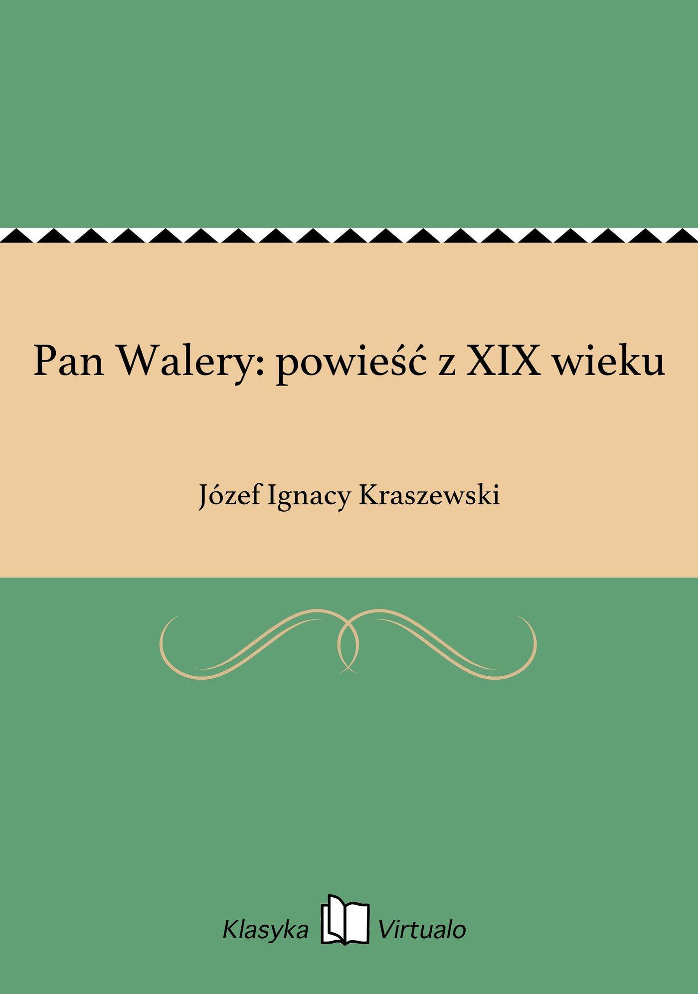 Pan Walery: powieść z XIX wieku - Ebook (Książka EPUB) do pobrania w formacie EPUB