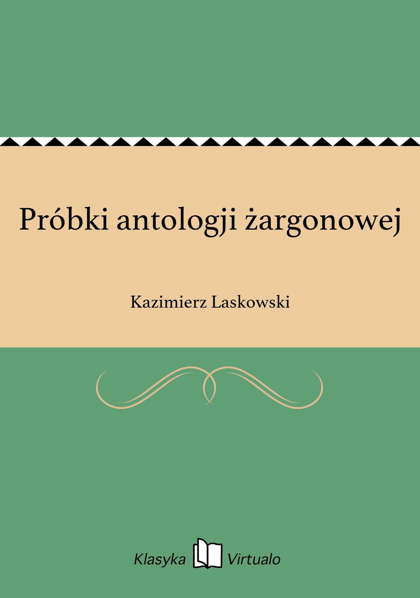 Próbki antologji żargonowej - Ebook (Książka EPUB) do pobrania w formacie EPUB