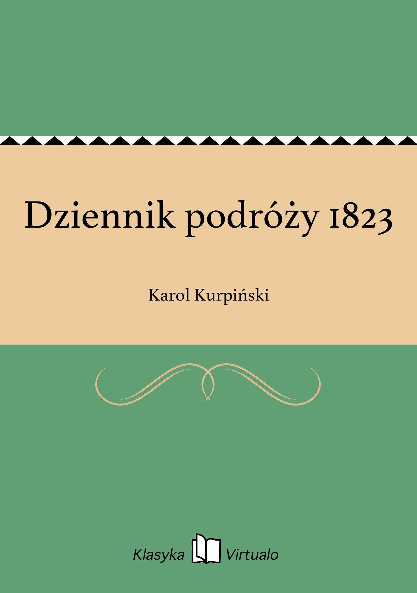 Dziennik podróży 1823 - Ebook (Książka EPUB) do pobrania w formacie EPUB
