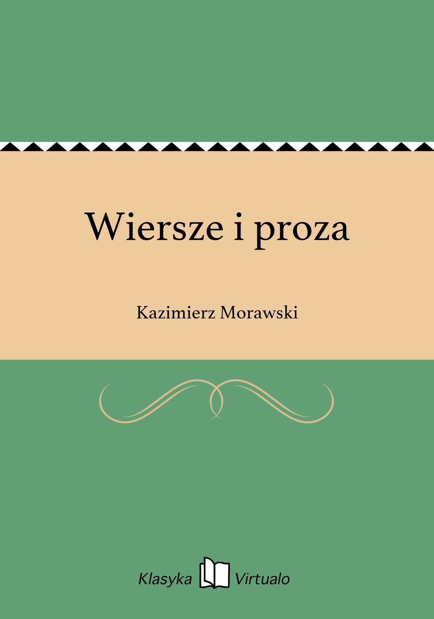 Wiersze i proza - Ebook (Książka EPUB) do pobrania w formacie EPUB