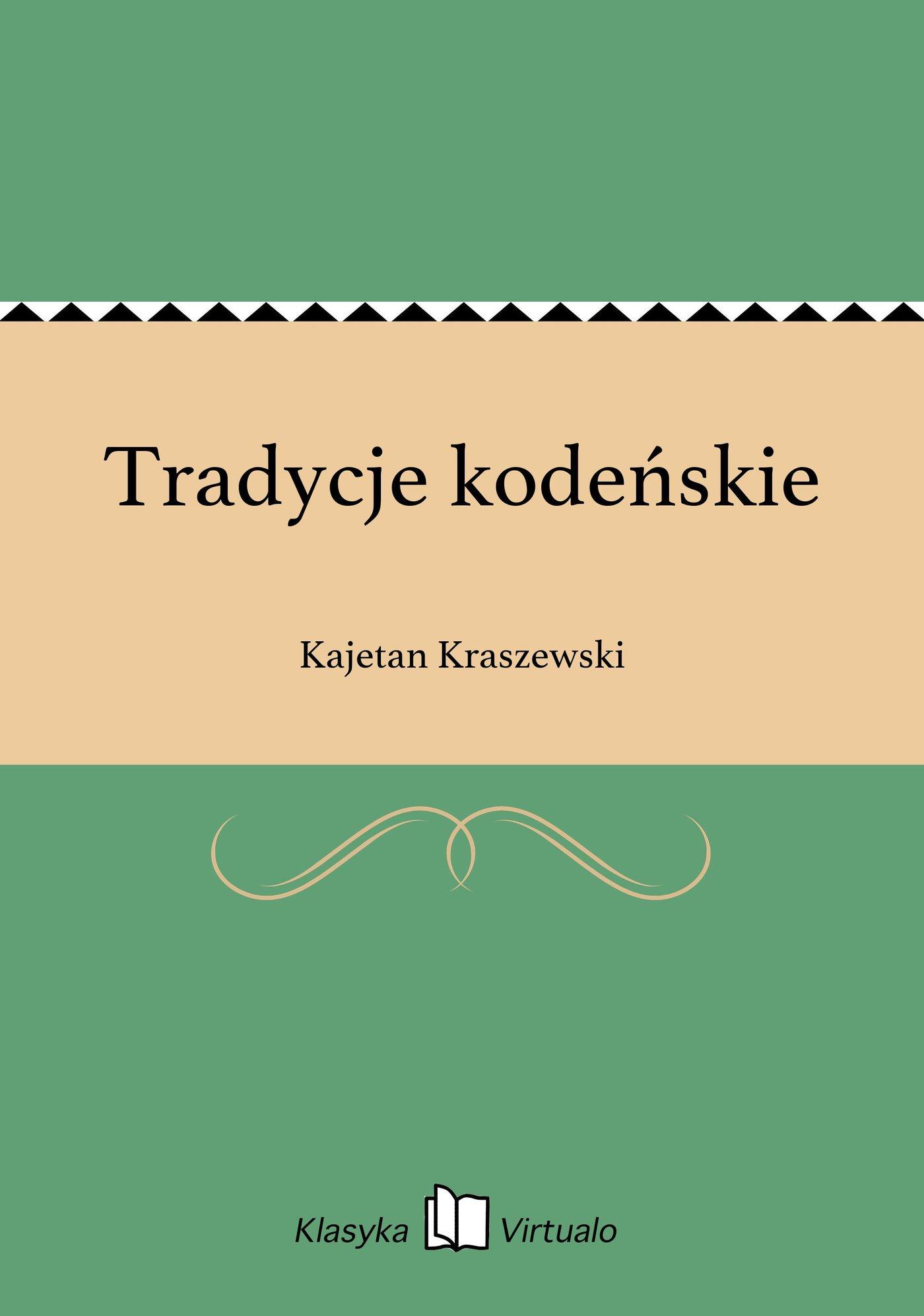 Tradycje kodeńskie - Ebook (Książka EPUB) do pobrania w formacie EPUB