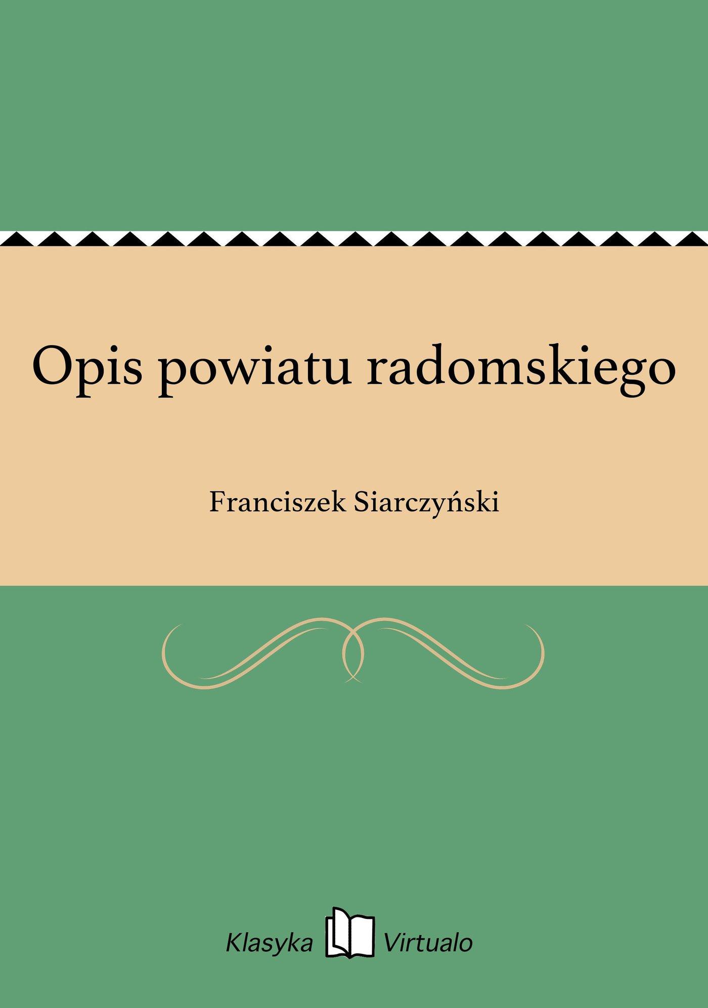 Opis powiatu radomskiego - Ebook (Książka EPUB) do pobrania w formacie EPUB