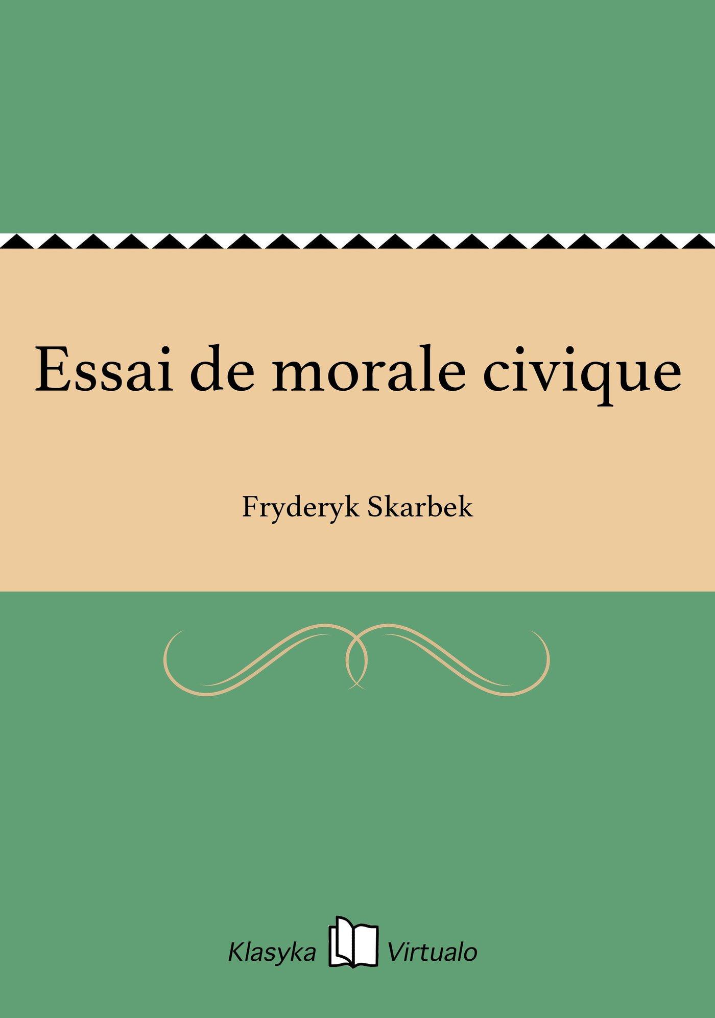 Essai de morale civique - Ebook (Książka EPUB) do pobrania w formacie EPUB