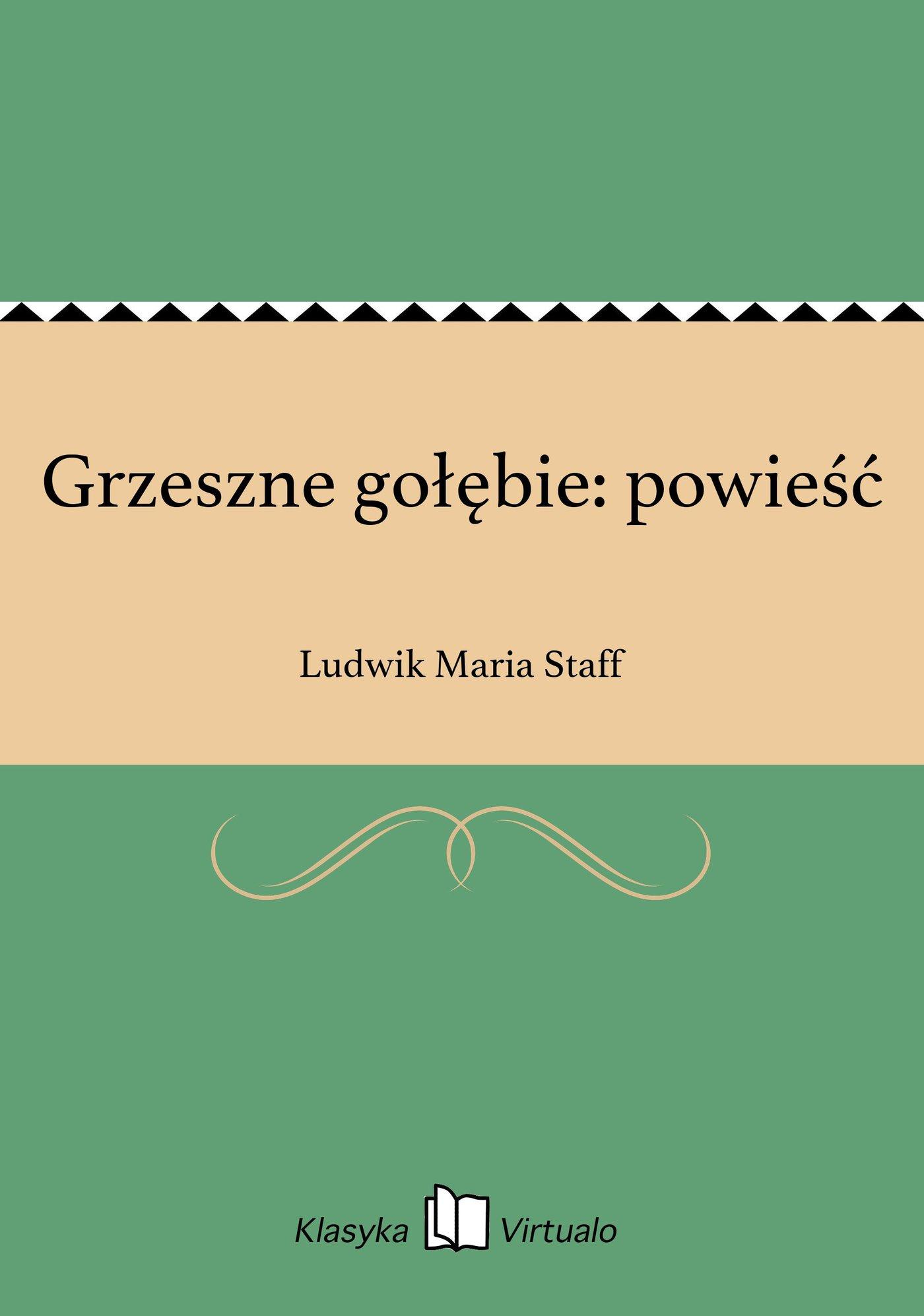 Grzeszne gołębie: powieść - Ebook (Książka EPUB) do pobrania w formacie EPUB