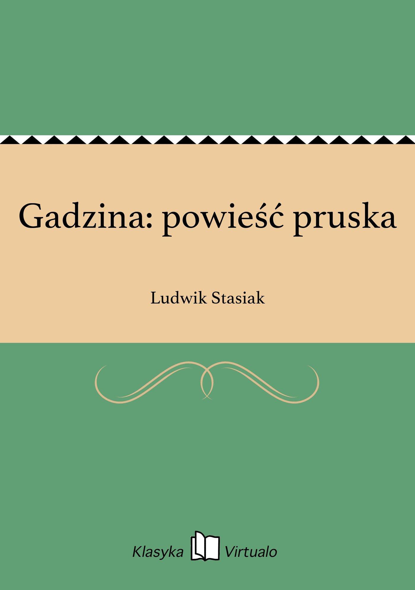 Gadzina: powieść pruska - Ebook (Książka EPUB) do pobrania w formacie EPUB