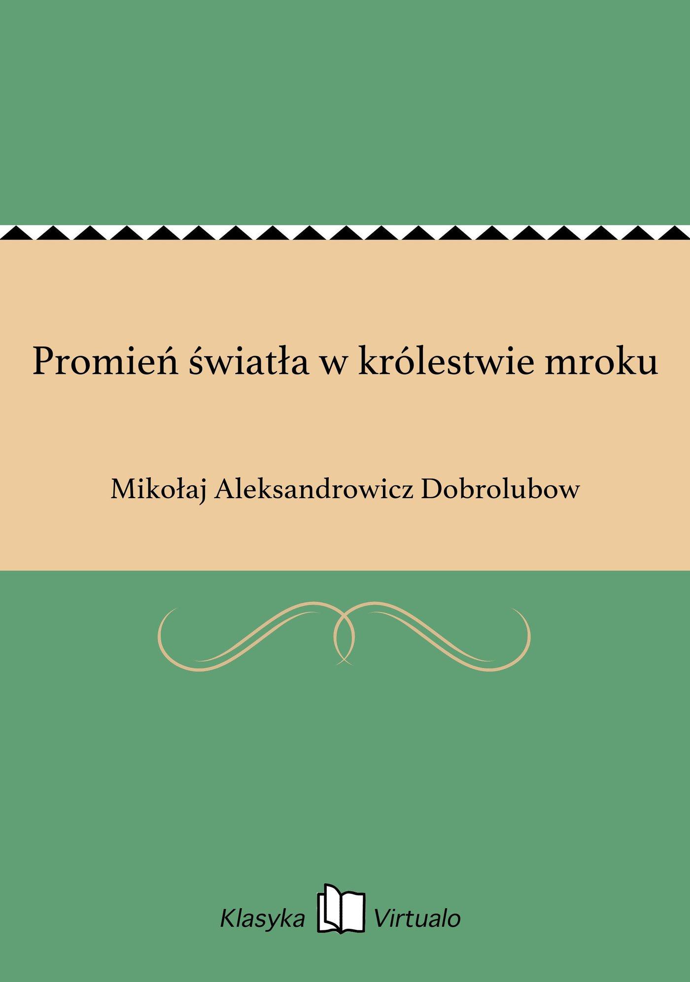 Promień światła w królestwie mroku - Ebook (Książka EPUB) do pobrania w formacie EPUB