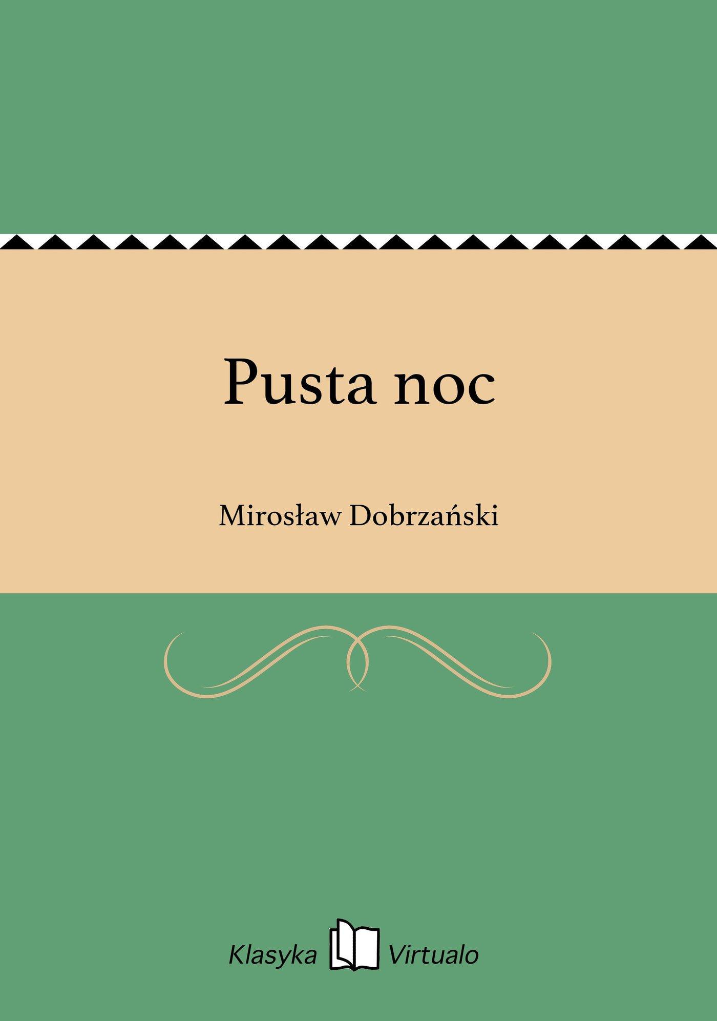 Pusta noc - Ebook (Książka EPUB) do pobrania w formacie EPUB