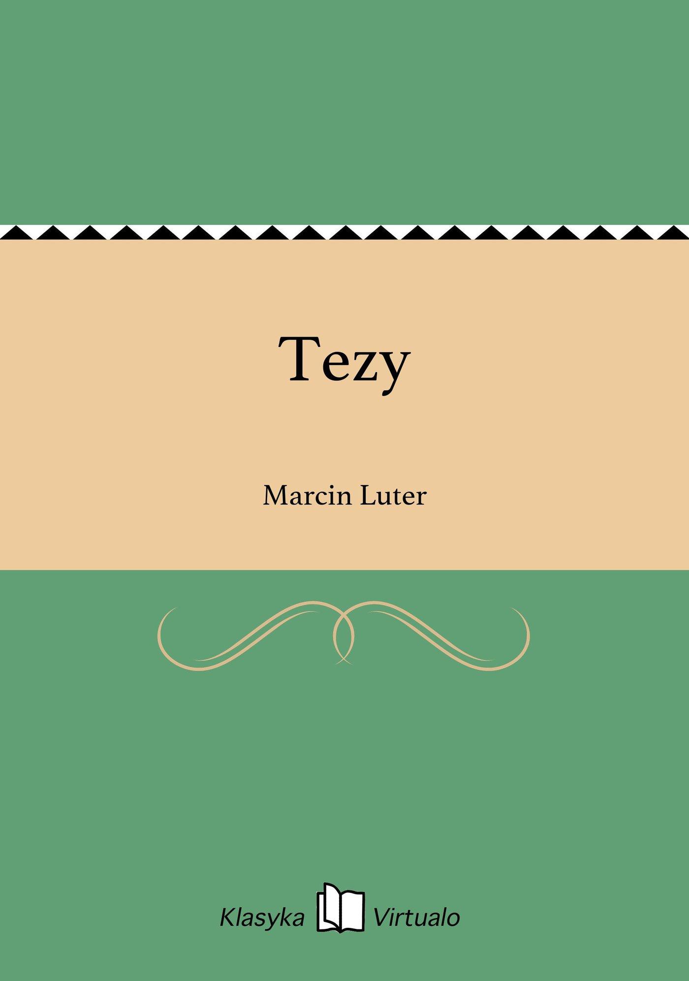 Tezy - Ebook (Książka EPUB) do pobrania w formacie EPUB
