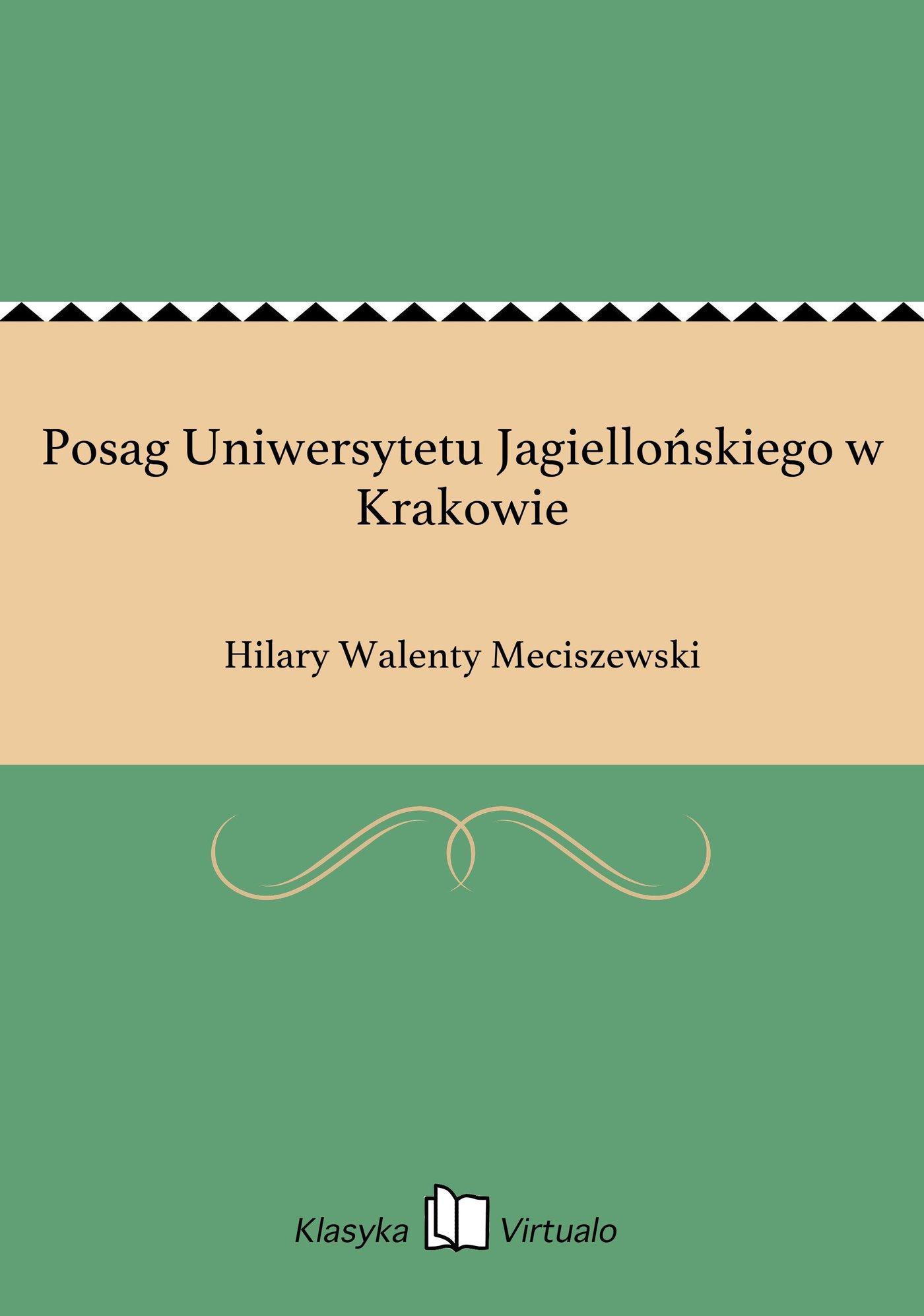 Posag Uniwersytetu Jagiellońskiego w Krakowie - Ebook (Książka EPUB) do pobrania w formacie EPUB