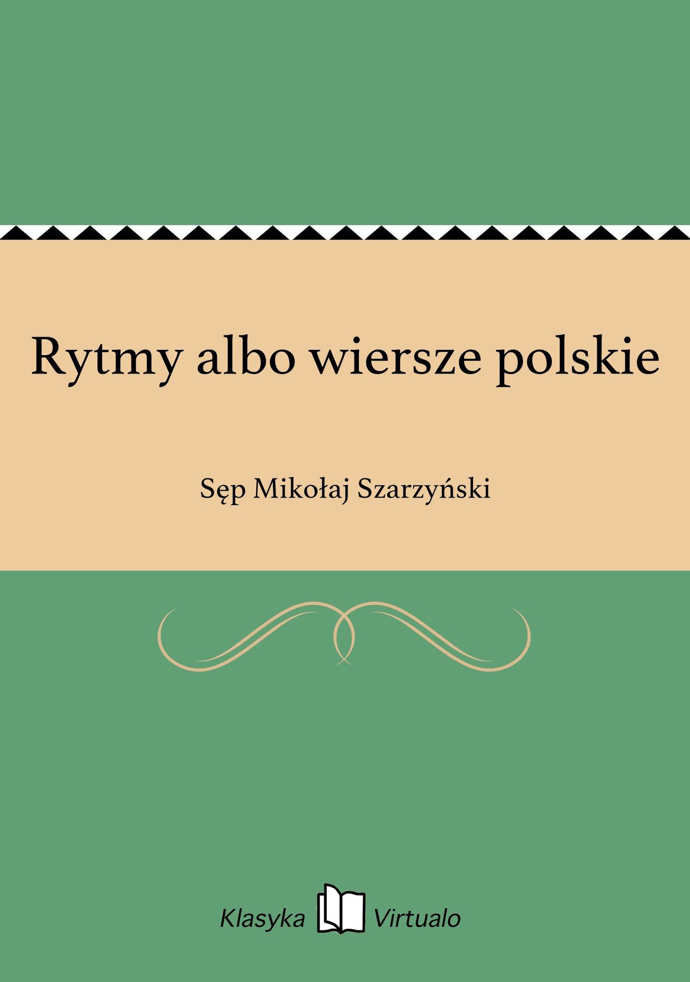 Rytmy albo wiersze polskie - Ebook (Książka EPUB) do pobrania w formacie EPUB