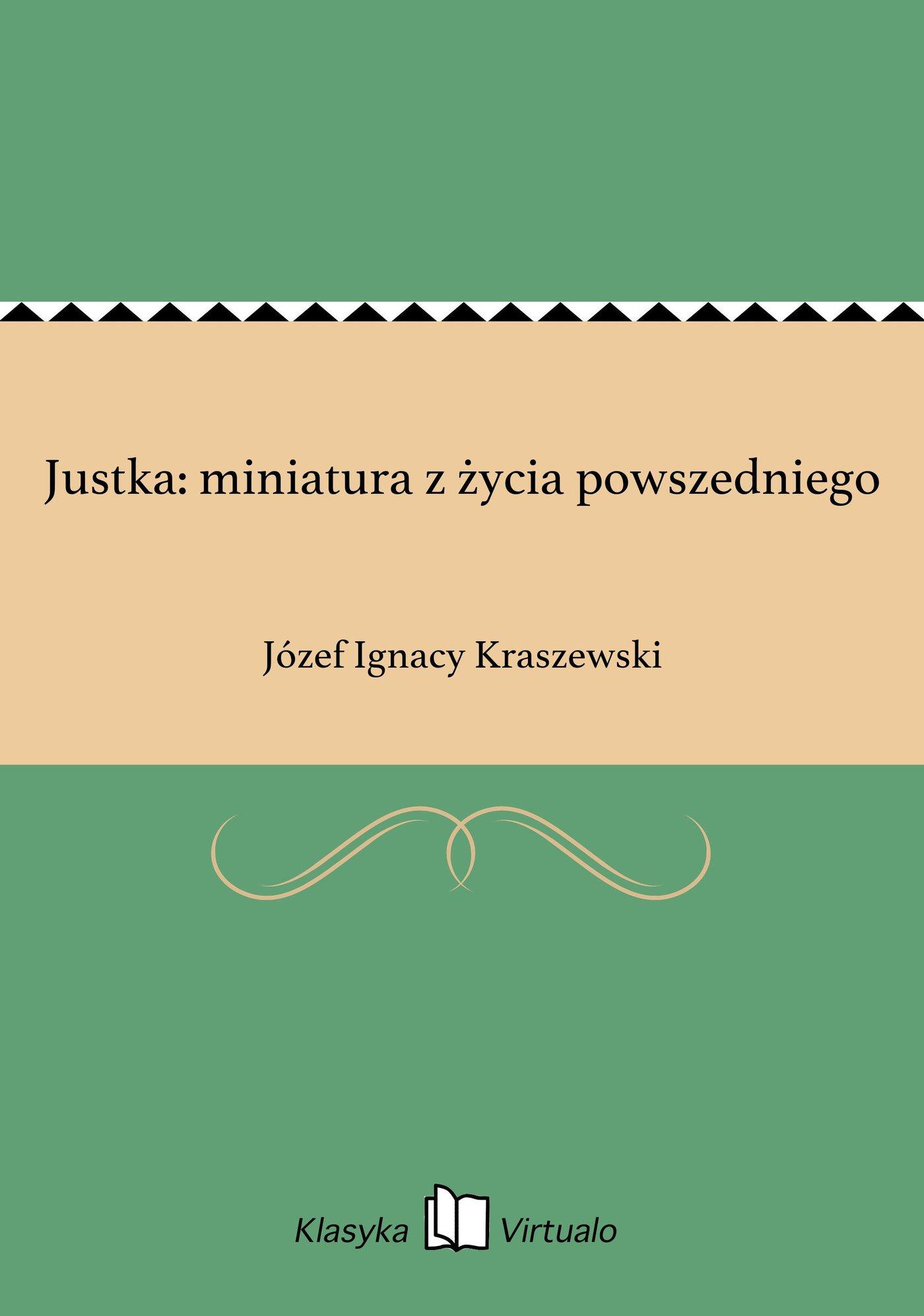 Justka: miniatura z życia powszedniego - Ebook (Książka EPUB) do pobrania w formacie EPUB